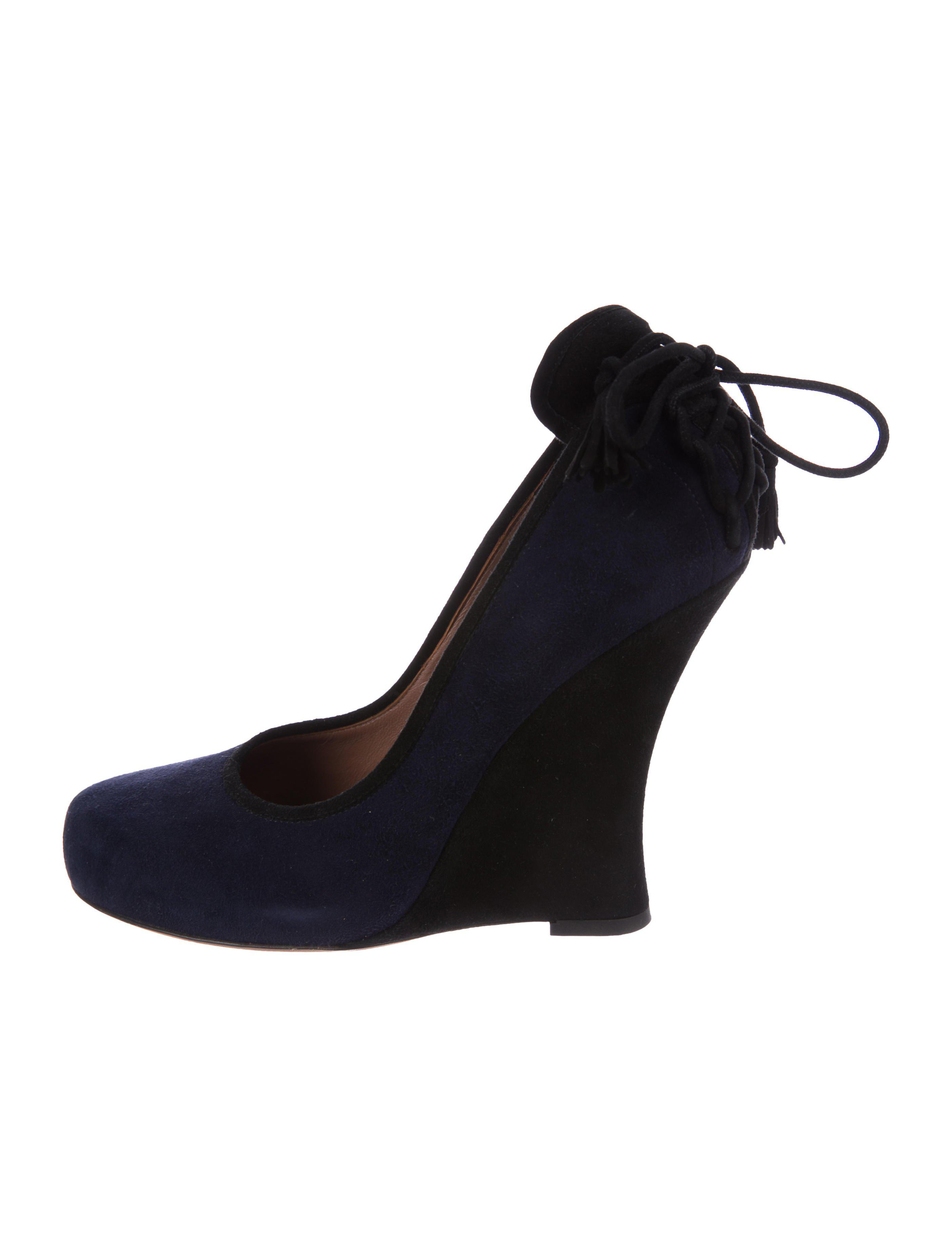 how much for sale buy cheap many kinds of Tabitha Simmons Wedge Round-Toe Wedges discount 100% guaranteed 100% original sale online free shipping supply bZW4hIy