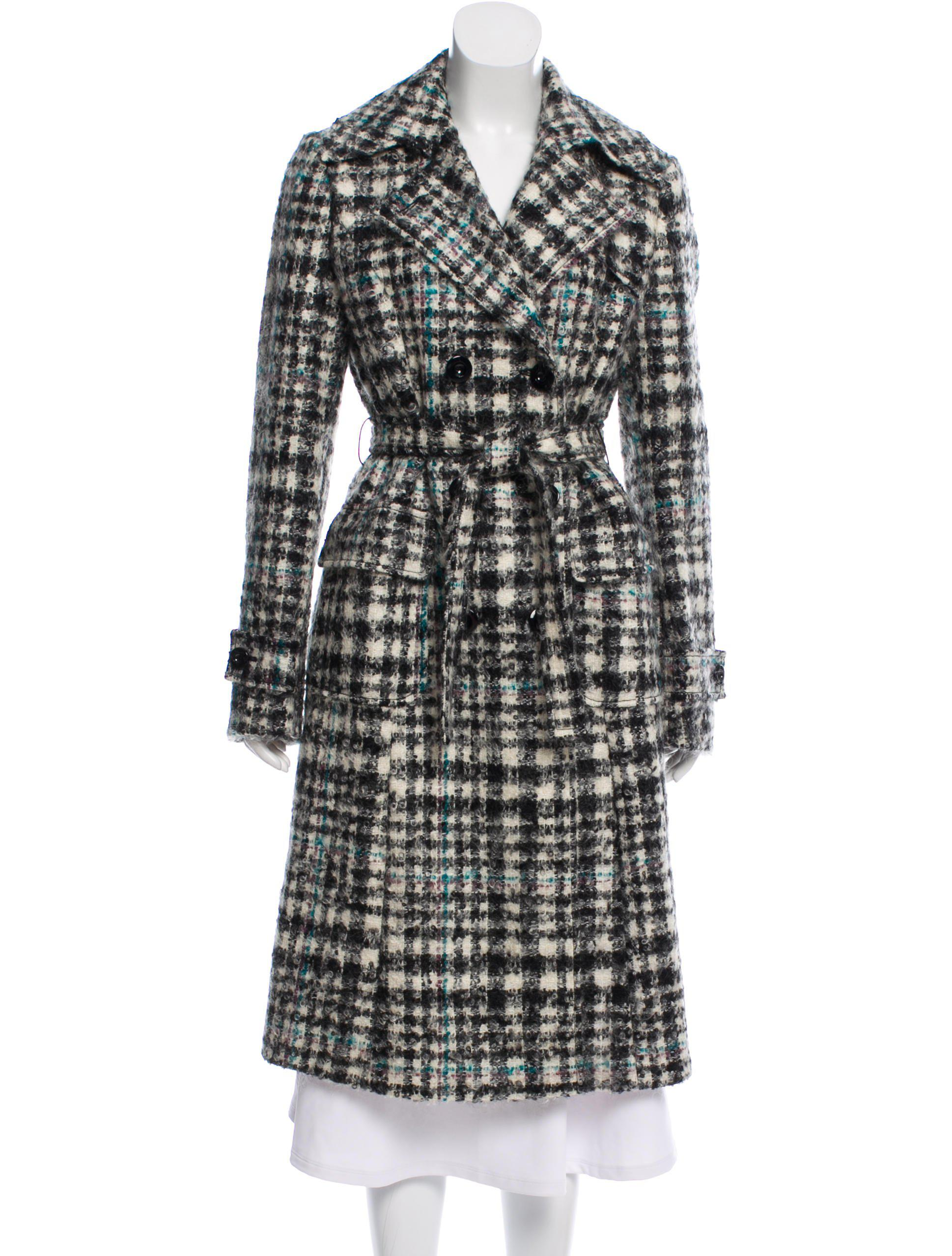2509c57f5c21 Lyst - M Missoni Mohair Belted Coat in Black