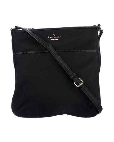 0cb69d6d15b Lyst - Kate Spade Classic Nylon Joni Crossbody Bag Black in Metallic