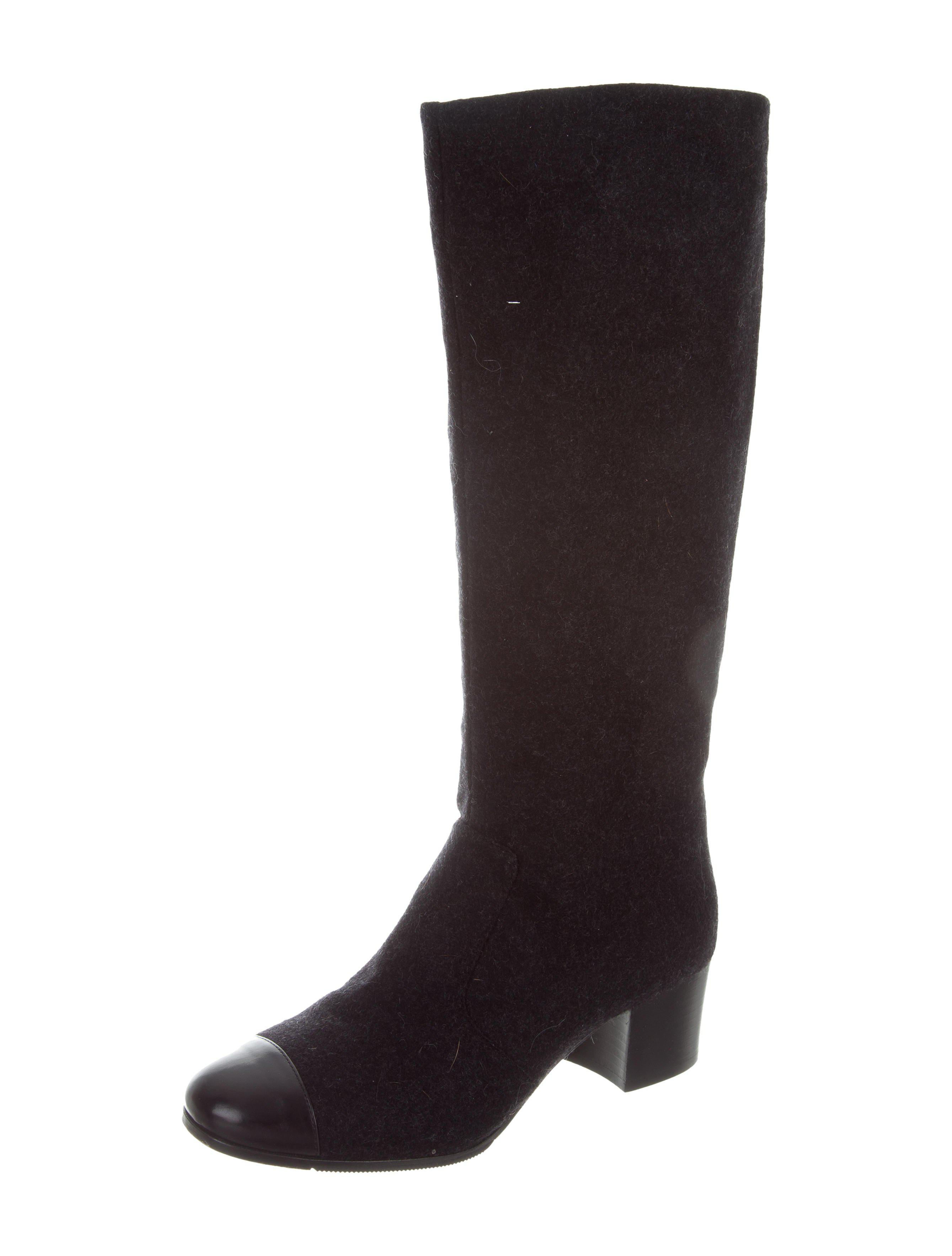 chanel knee high boots. gallery chanel knee high boots s