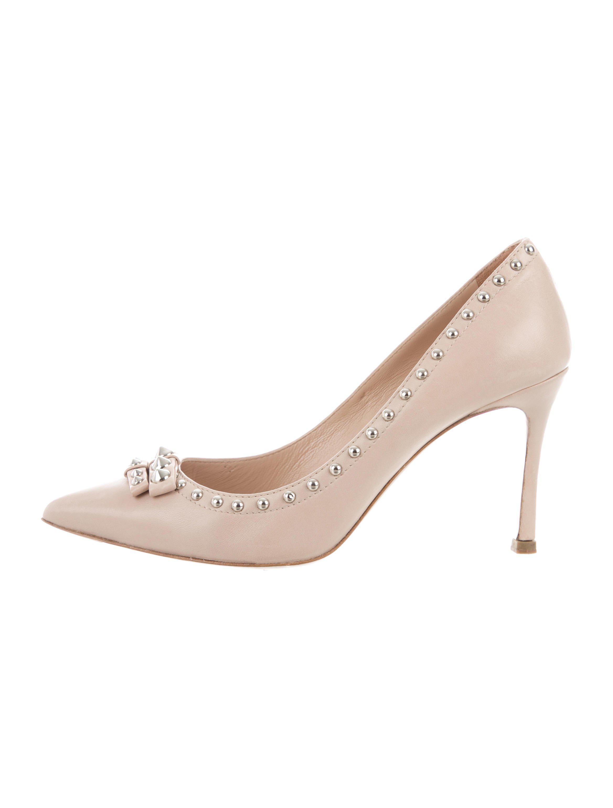 studded heel pumps - Metallic Miu Miu kbc3OHR