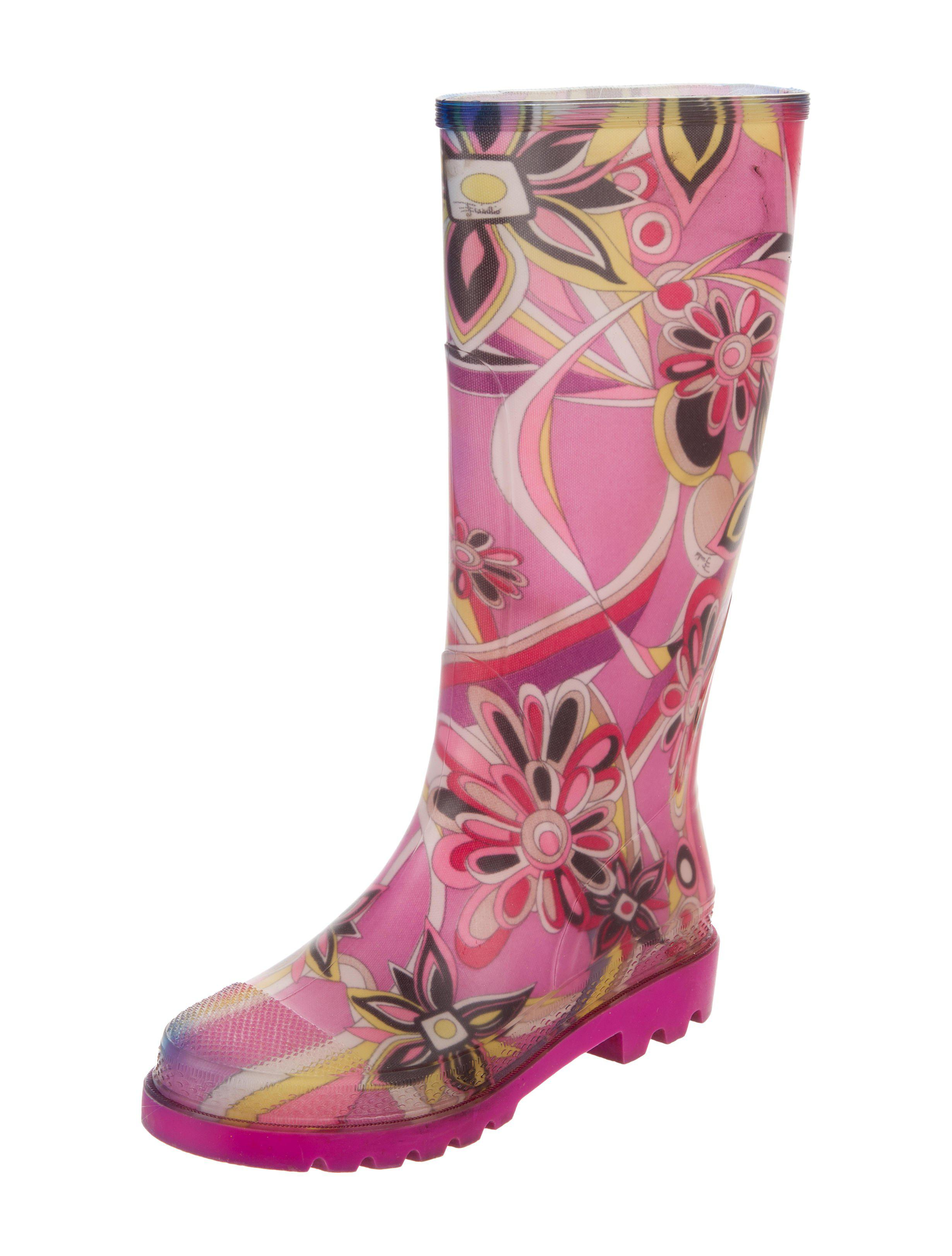 Emilio Pucci Round-Toe Rain Boots discount pre order free shipping many kinds of fake purchase online fy6G2