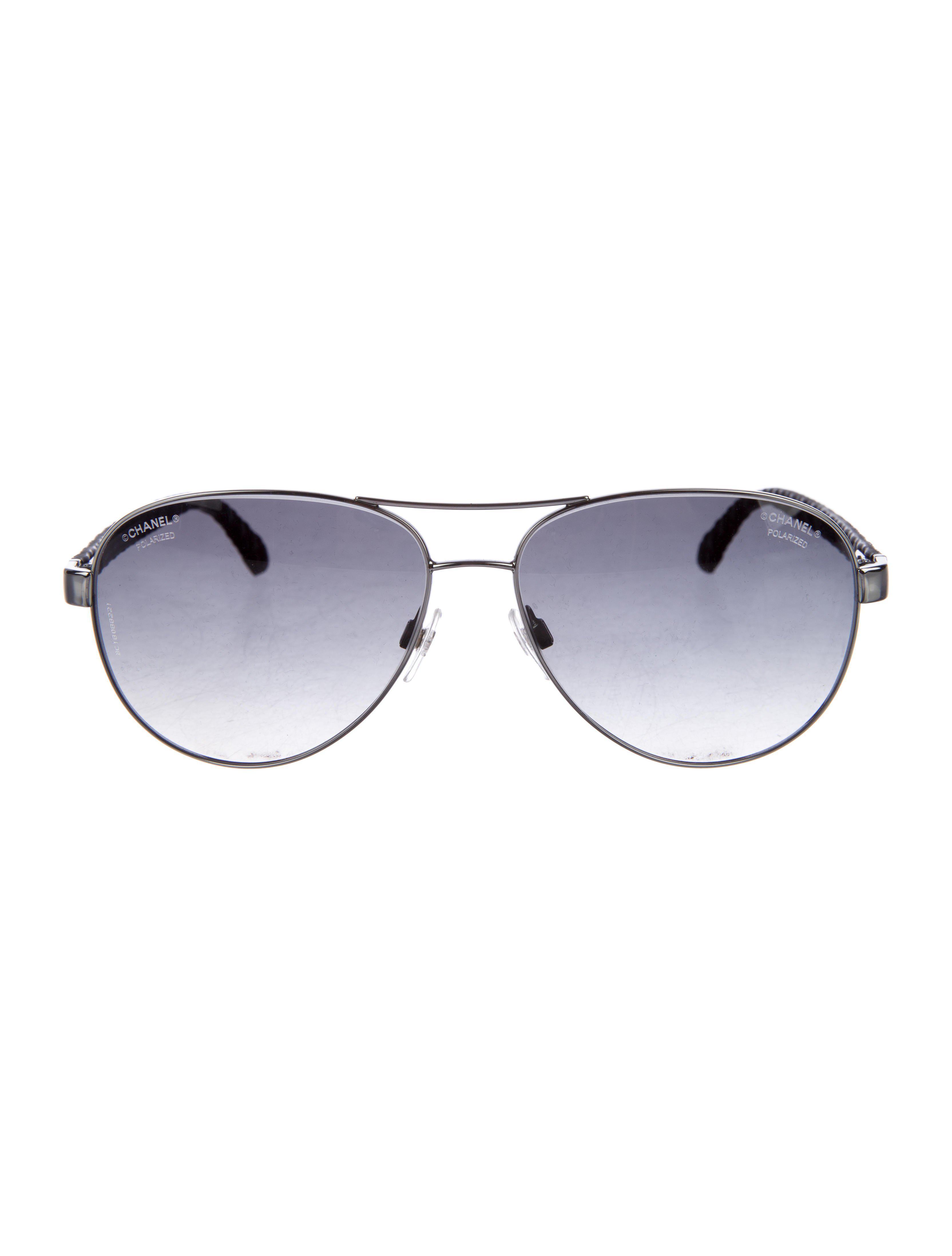 2cccea601b Lyst - Chanel 2017 Pilot Summer Sunglasses in Black