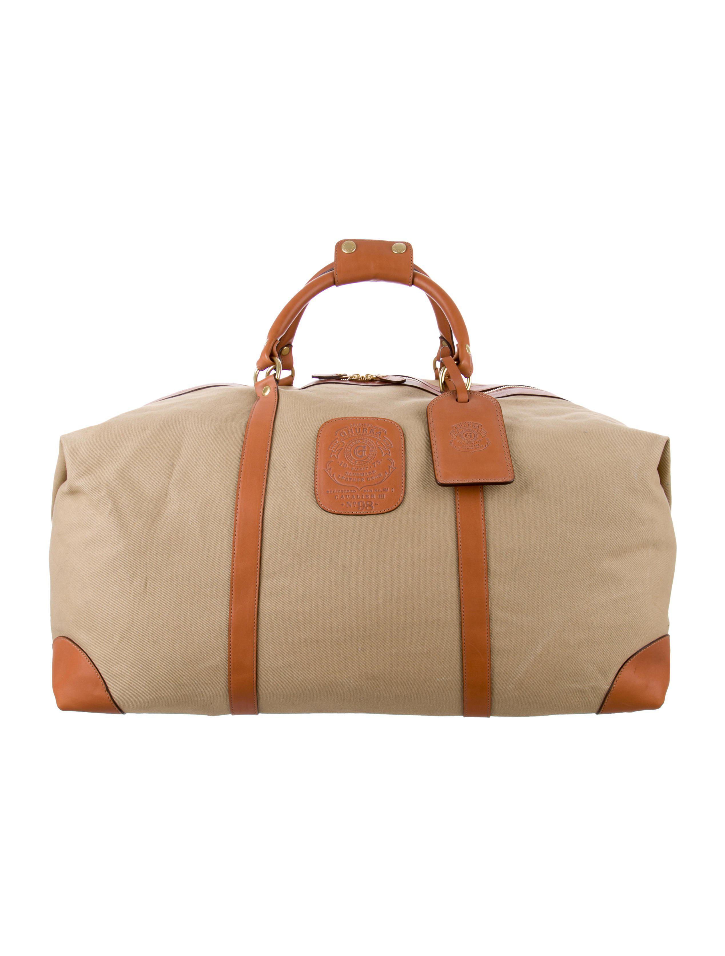 301ff3be8240 Lyst - Ghurka Cavalier Iii Duffel Bag Tan in Metallic for Men