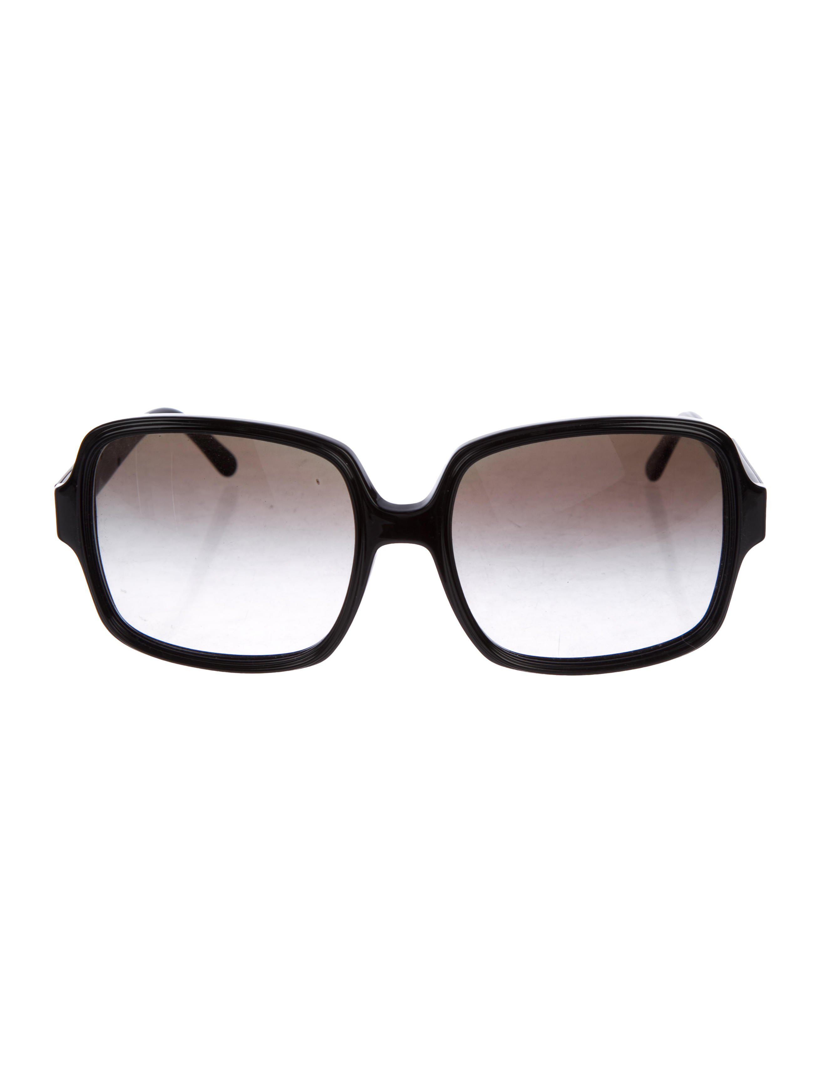 18387b1344 Lyst - Stella Mccartney Oversize Square Sunglasses in Black