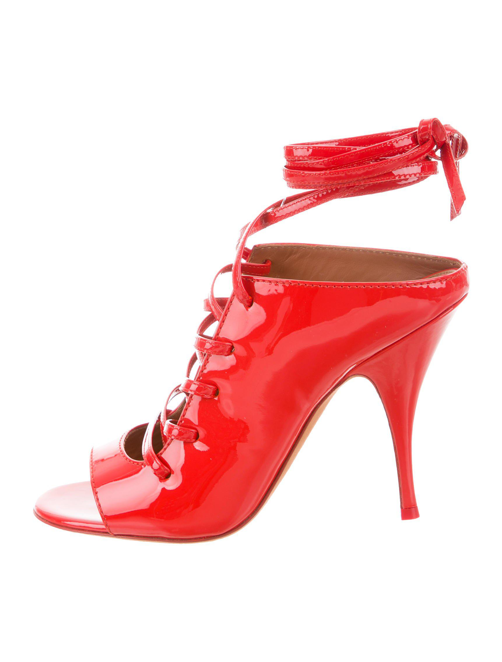 Givenchy Patent Leather Lace-Up Sandals w/ Tags buy cheap 100% authentic free shipping low price cheap sale shopping online pdPMnCh