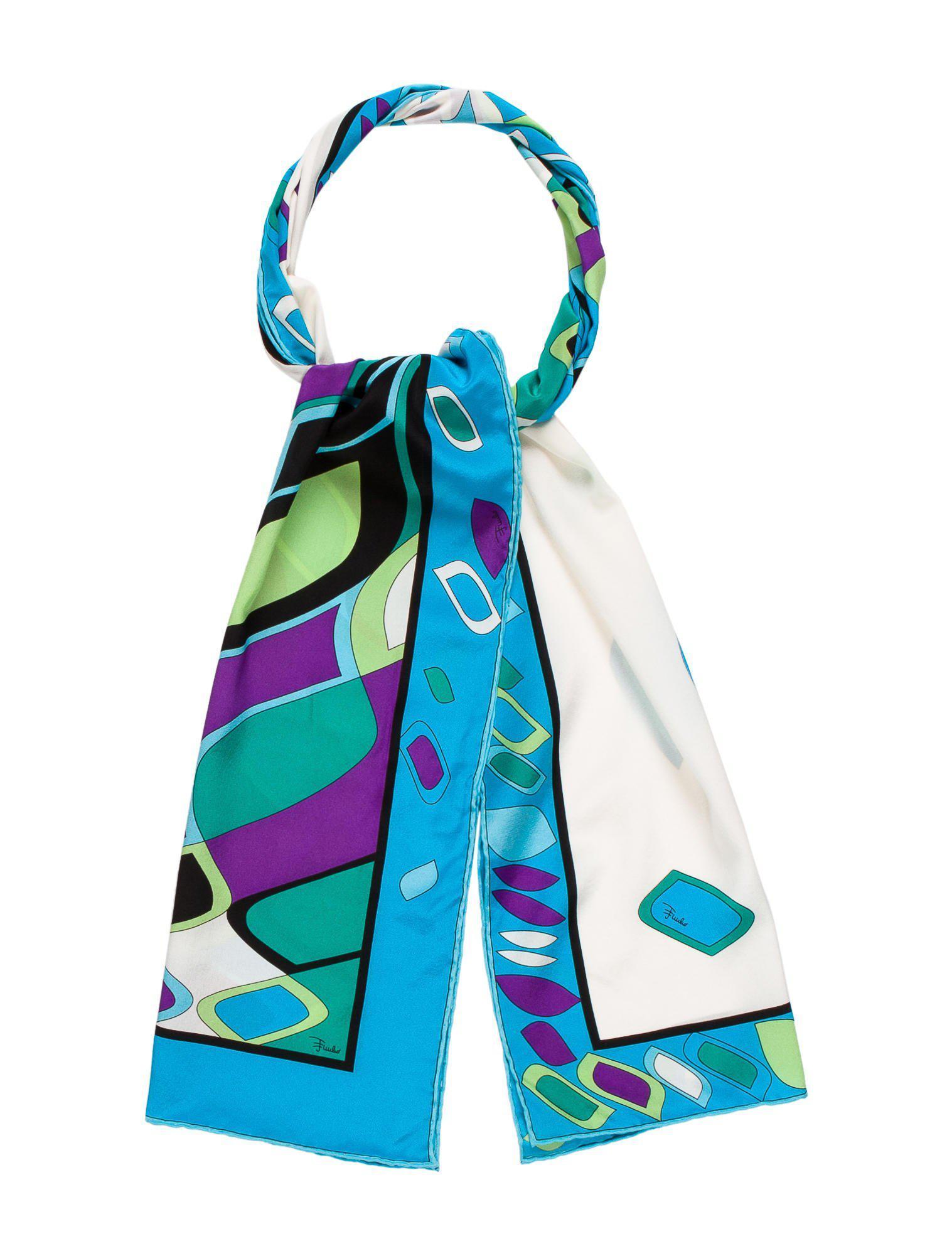 abstract floral print scarf - Multicolour Emilio Pucci Pdj7g