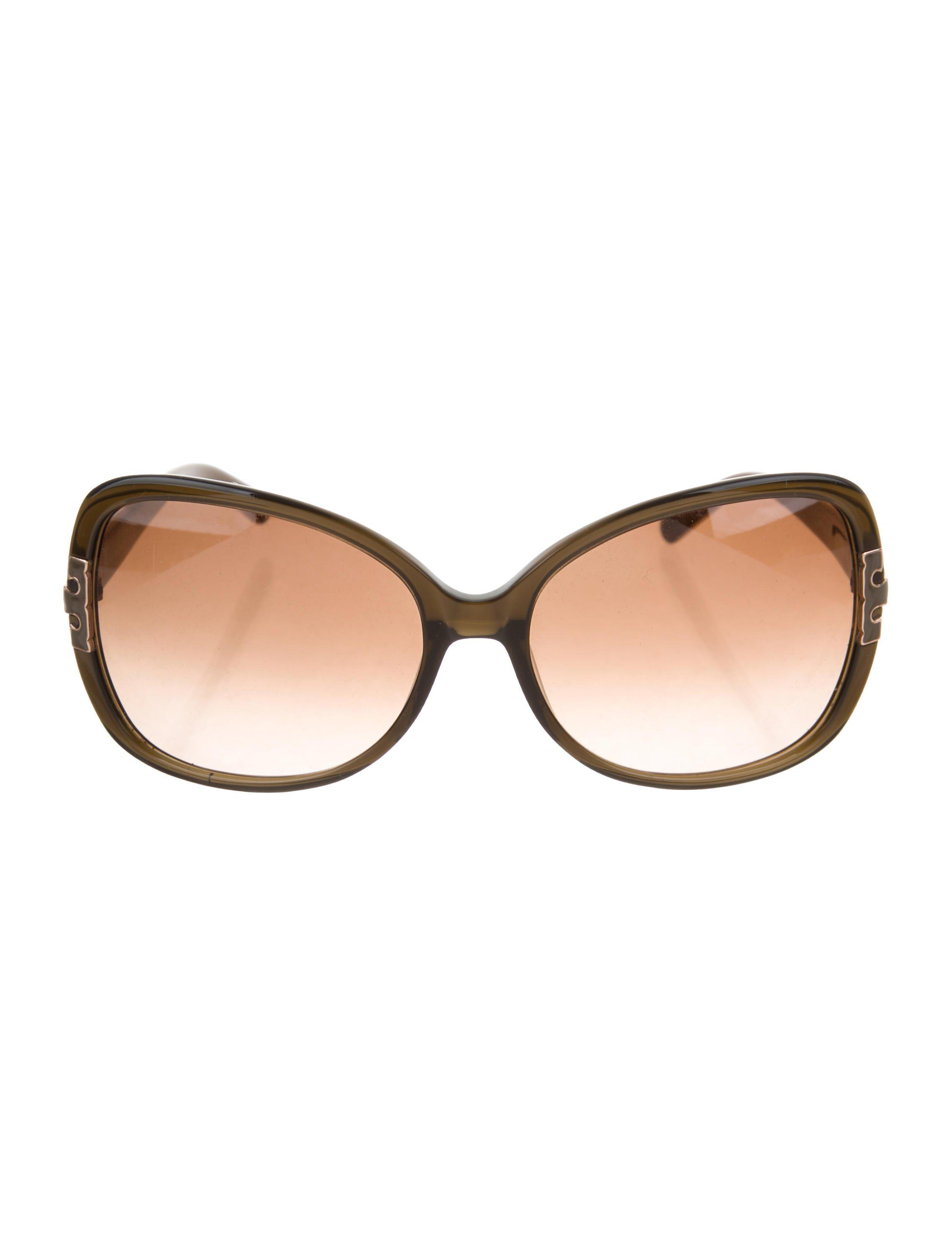 fd5224d5b9 Lyst - Tory Burch Oversize Tinted Sunglasses in Brown