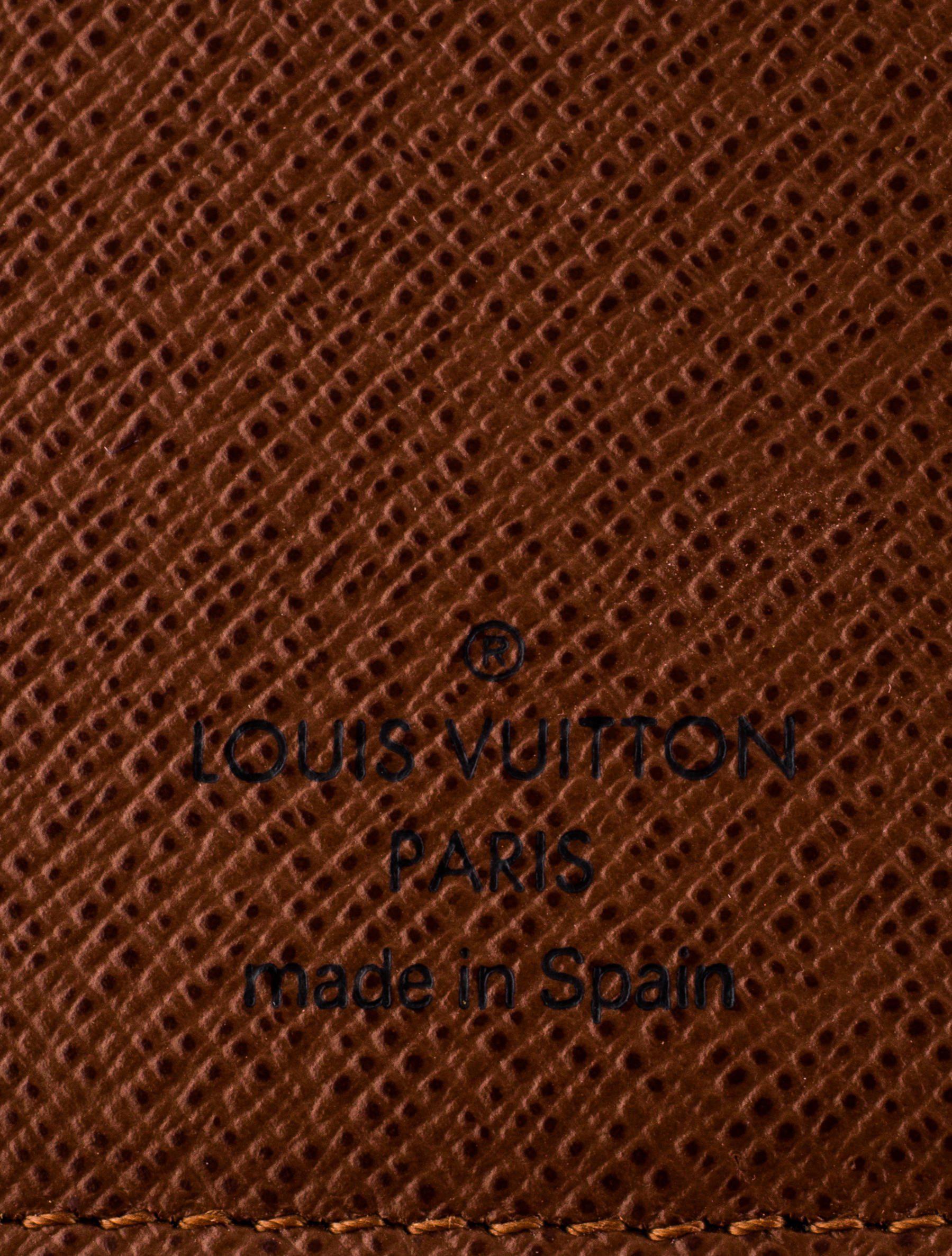 89ed379c96d2 Lyst - Louis Vuitton Monogram Desk Agenda Cover Brown in Natural