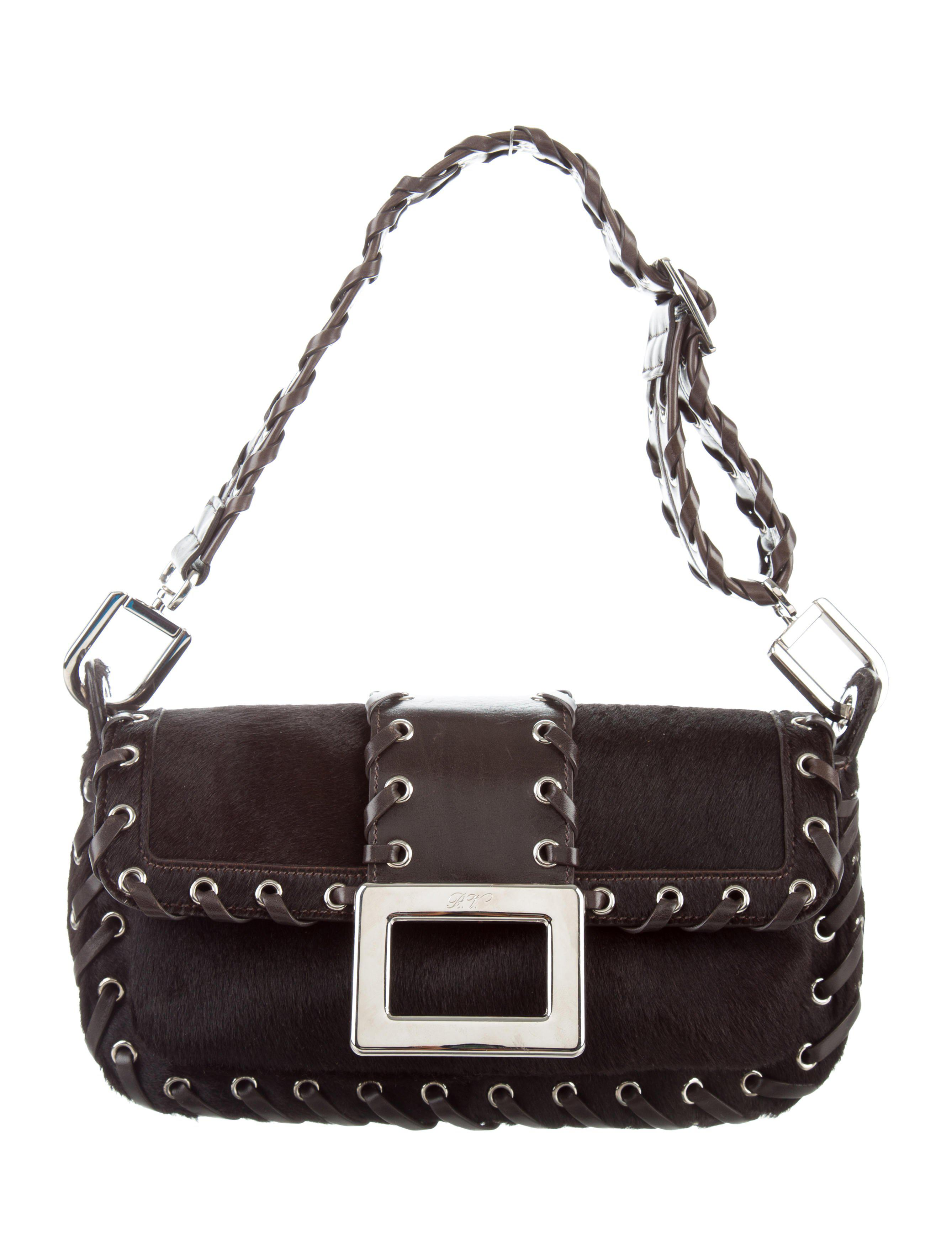 261711dea3 Lyst - Roger Vivier Belle Sauvage Bag Silver in Metallic