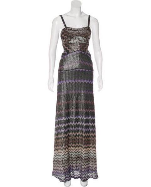695f6cc57f1 Lyst - Missoni Wool Maxi Dress in Purple