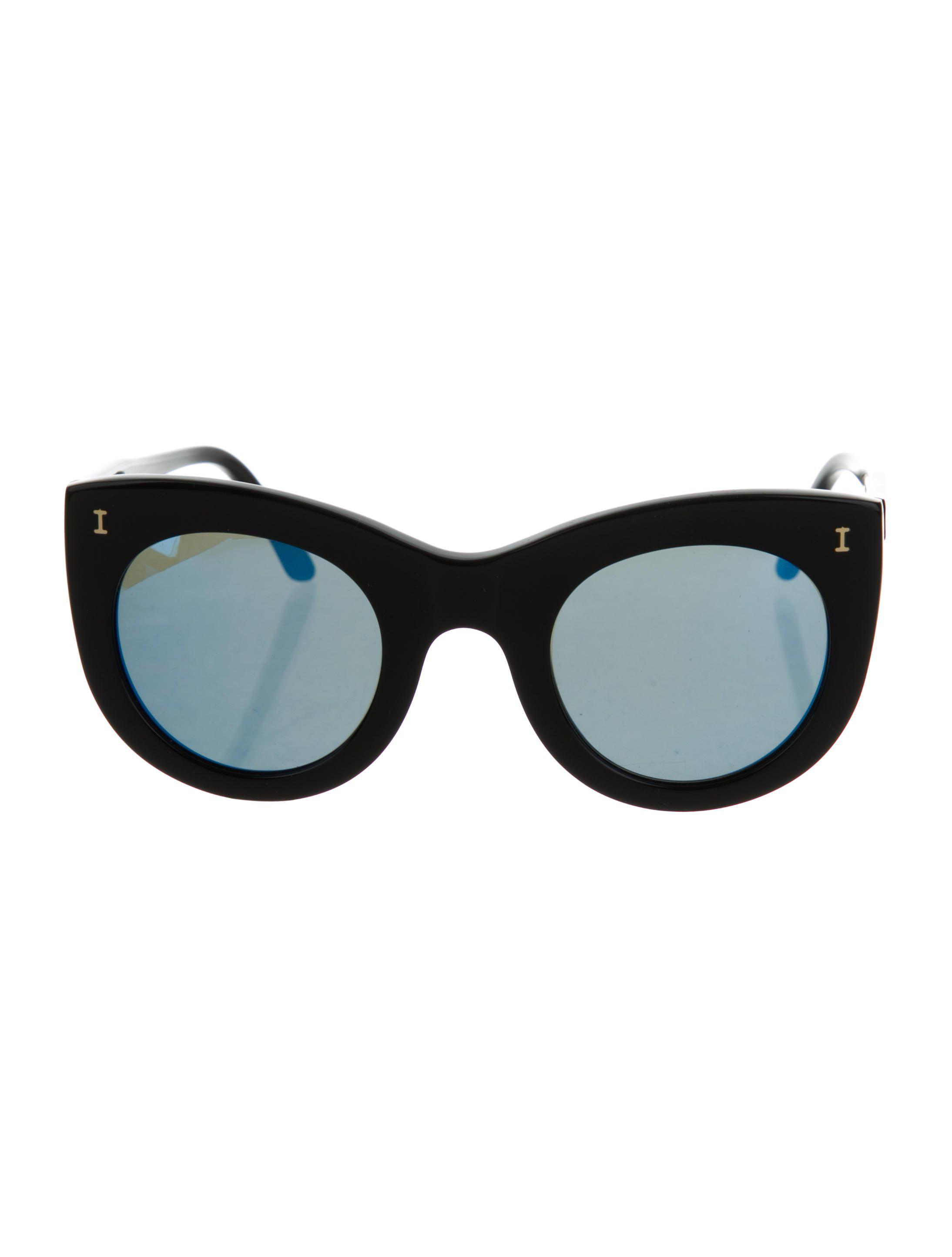 efadece775b Lyst - Illesteva Cat-eye Tinted Sunglasses in Black