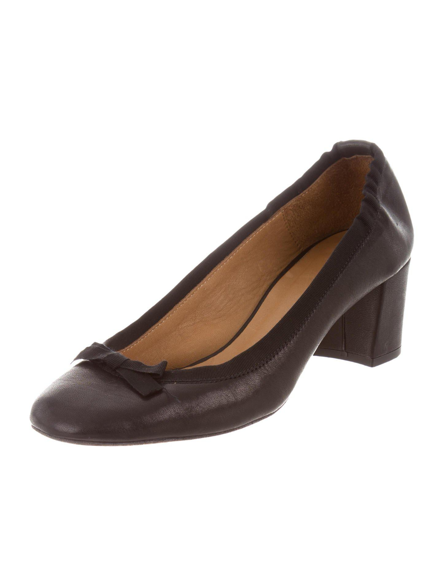 Isabel Marant Leather Square-Toe Pumps free shipping discount discount best store to get xl4e7O