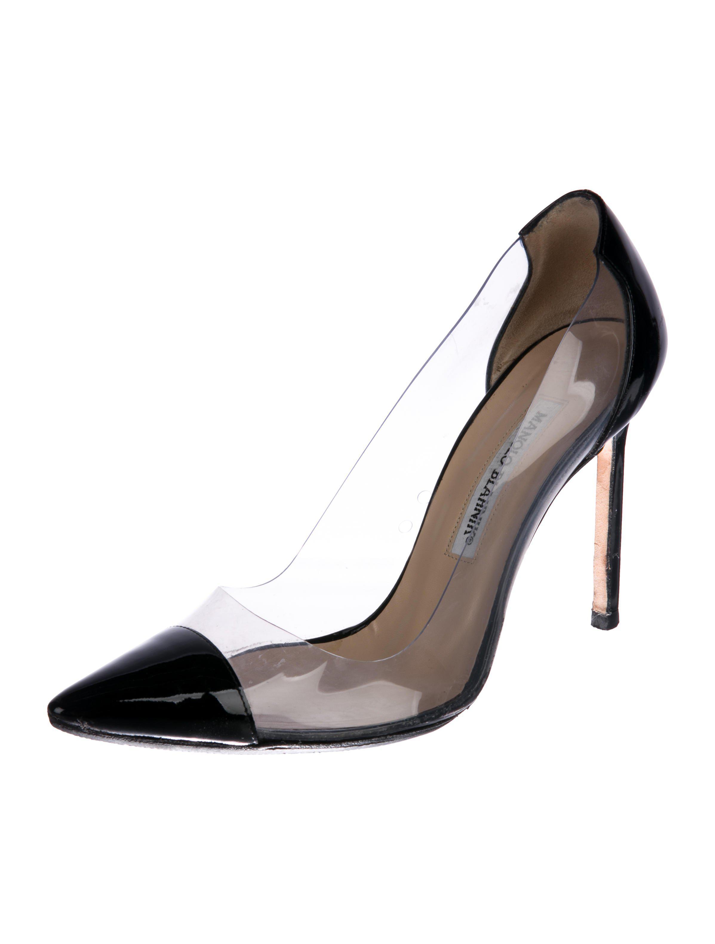 97a2e47a0d24 lyst manolo blahnik pvc cap toe pumps clear in white rh lyst com