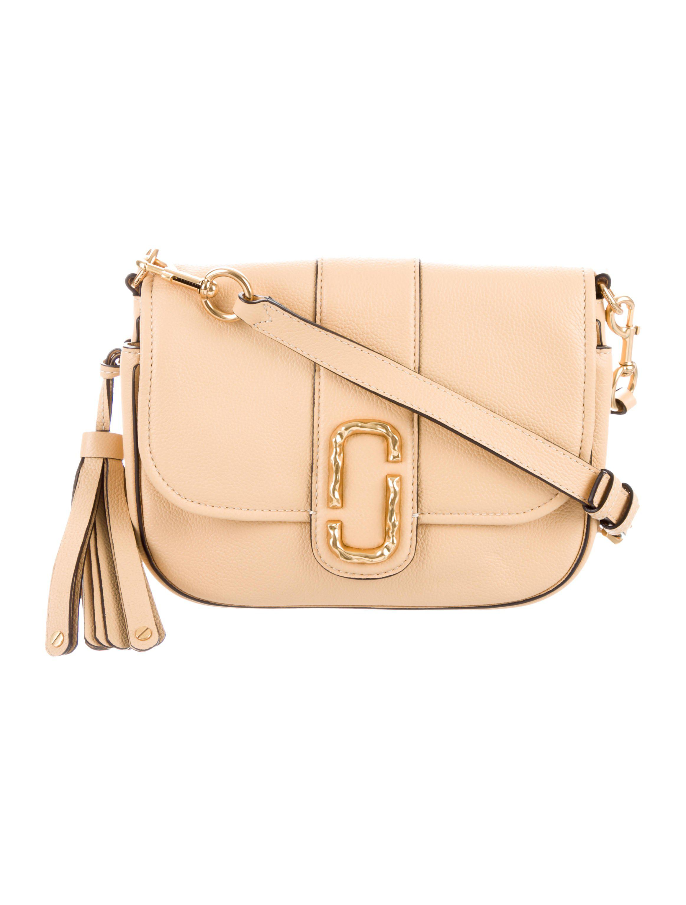 Lyst - Marc Jacobs 2017 Interlock Small Courier Crossbody Bag Tan in ... 6b32b806565cb