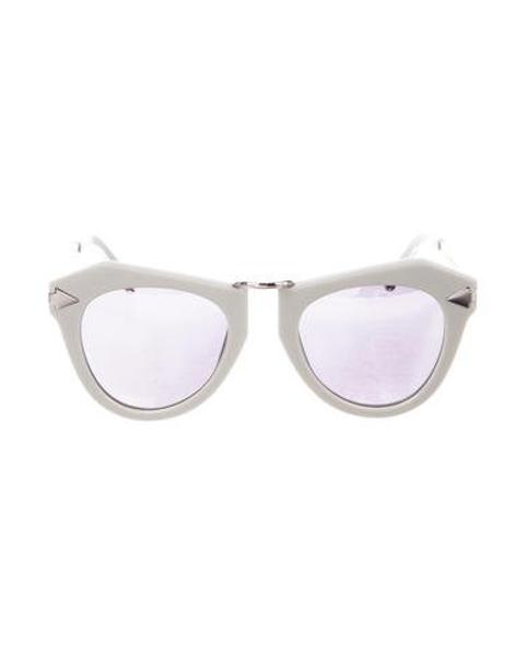 57ce821a22 Lyst - Karen Walker One Orbit Mirror- Sunglasses Grey in Metallic