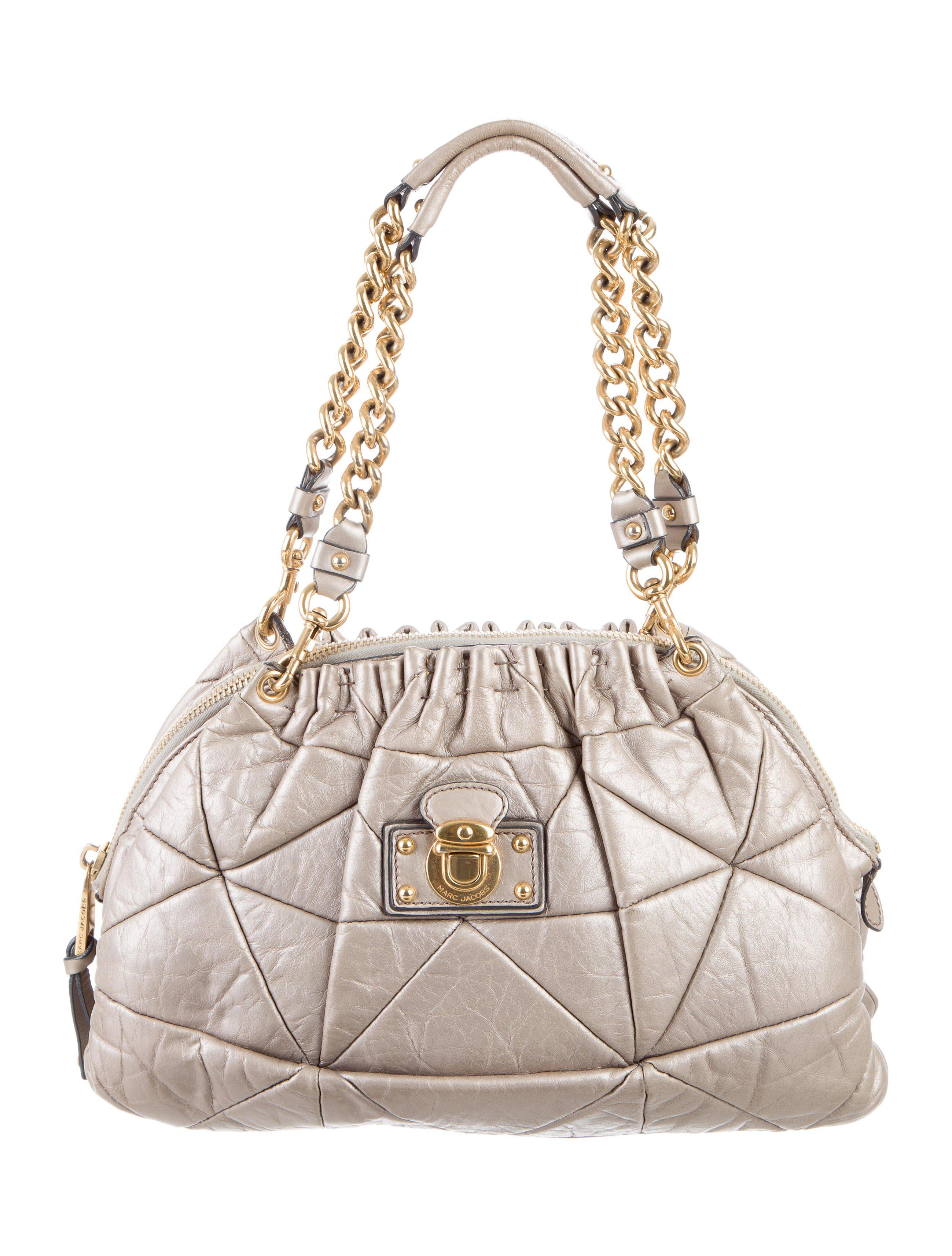 9c072f212a Lyst - Marc Jacobs Quilted Leather Shoulder Bag in Metallic