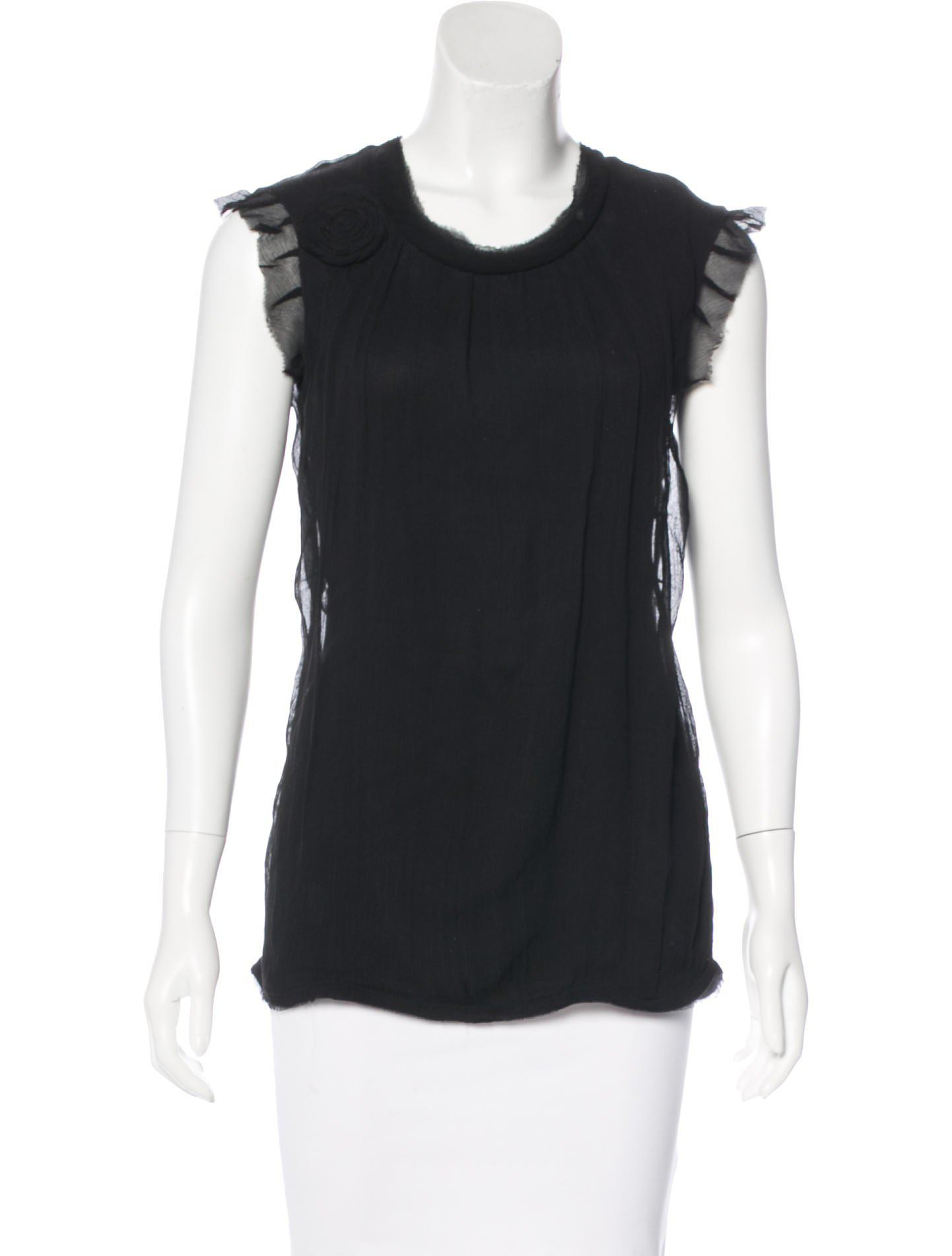 Lanvin Zip-Accented Sleeveless Top Browse Online Big Discount For Sale Buy Cheap Release Dates eO8Gu