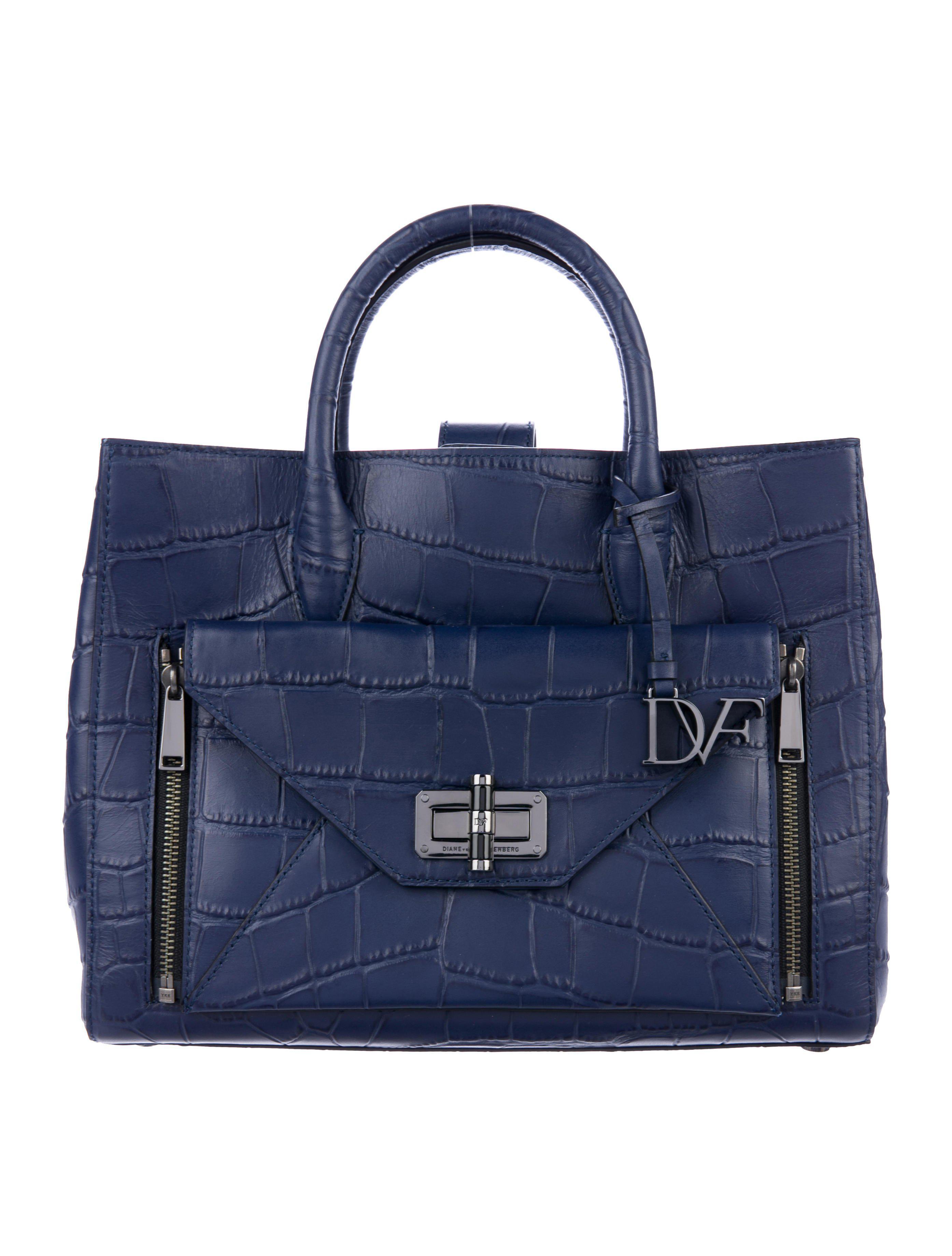 33336d163b Diane von Furstenberg. Women s Blue 440 Gallery Large Secret Agent ...