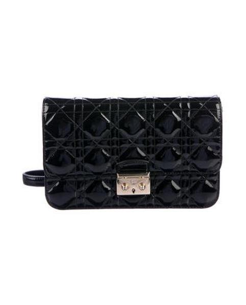 1d2991a1da01 Lyst - Dior Miss Promenade Pouch Bag Black in Metallic