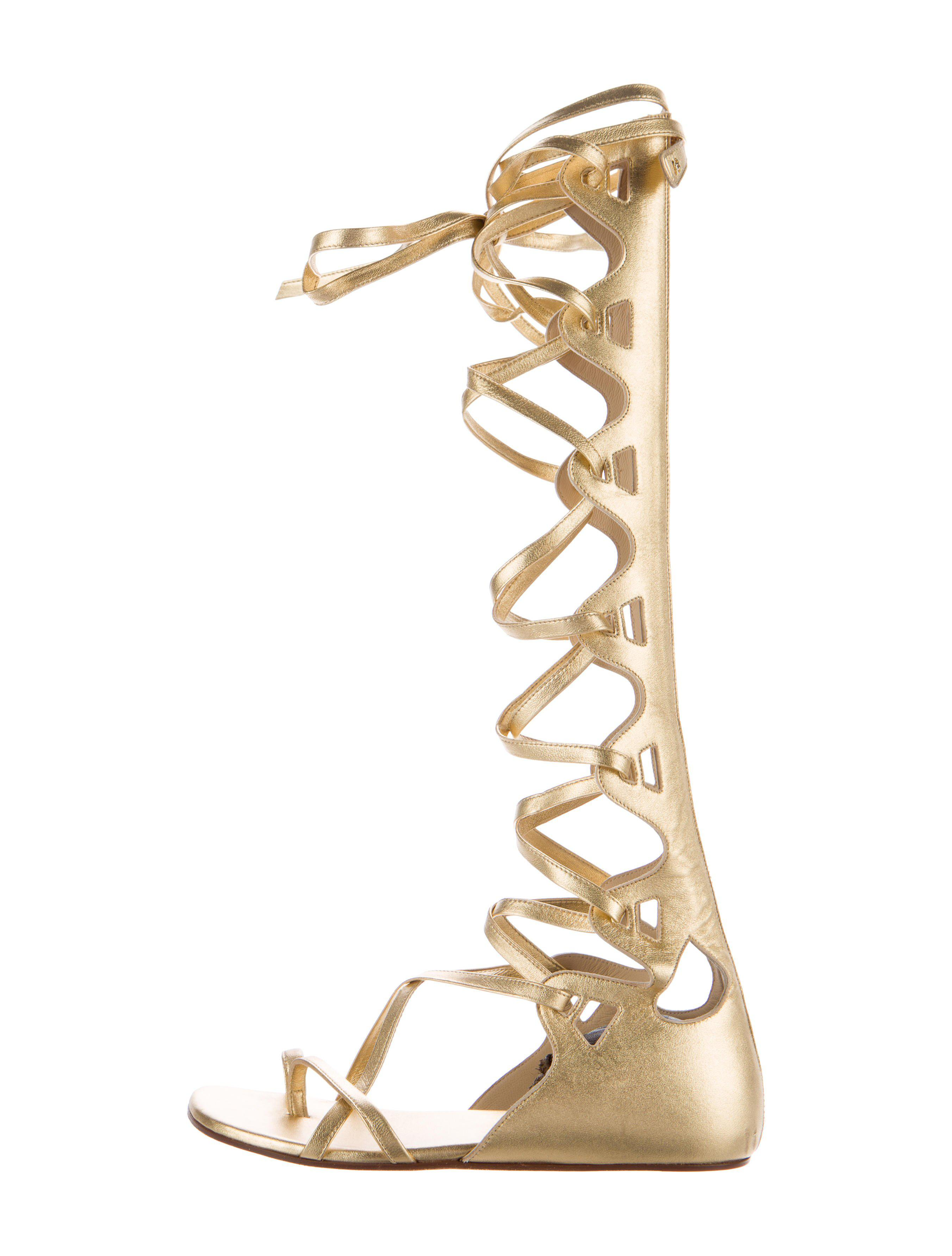 708382c851b5 Lyst chanel leather gladiator sandals gold in metallic jpg 2703x3565 Chanel  gladiator sandals