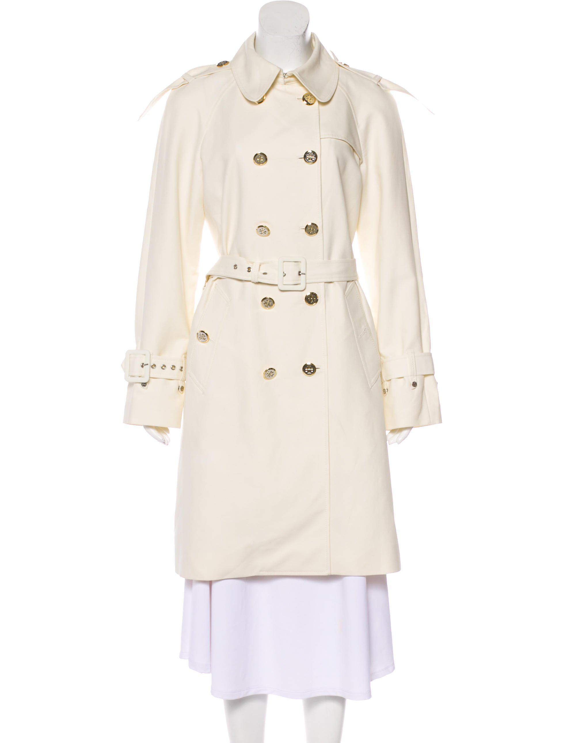 c3f27a4a9d1c Lyst - Tory Burch Double-breasted Trench Coat in Yellow