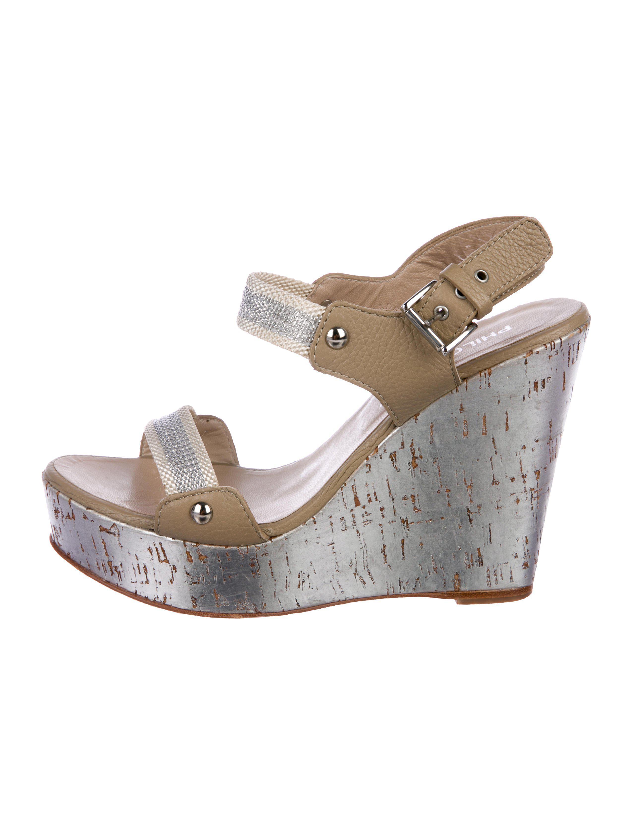 22ca690a1c8c Philosophy di Alberta Ferretti. Women s Metallic -accented Platform Wedges  Silver