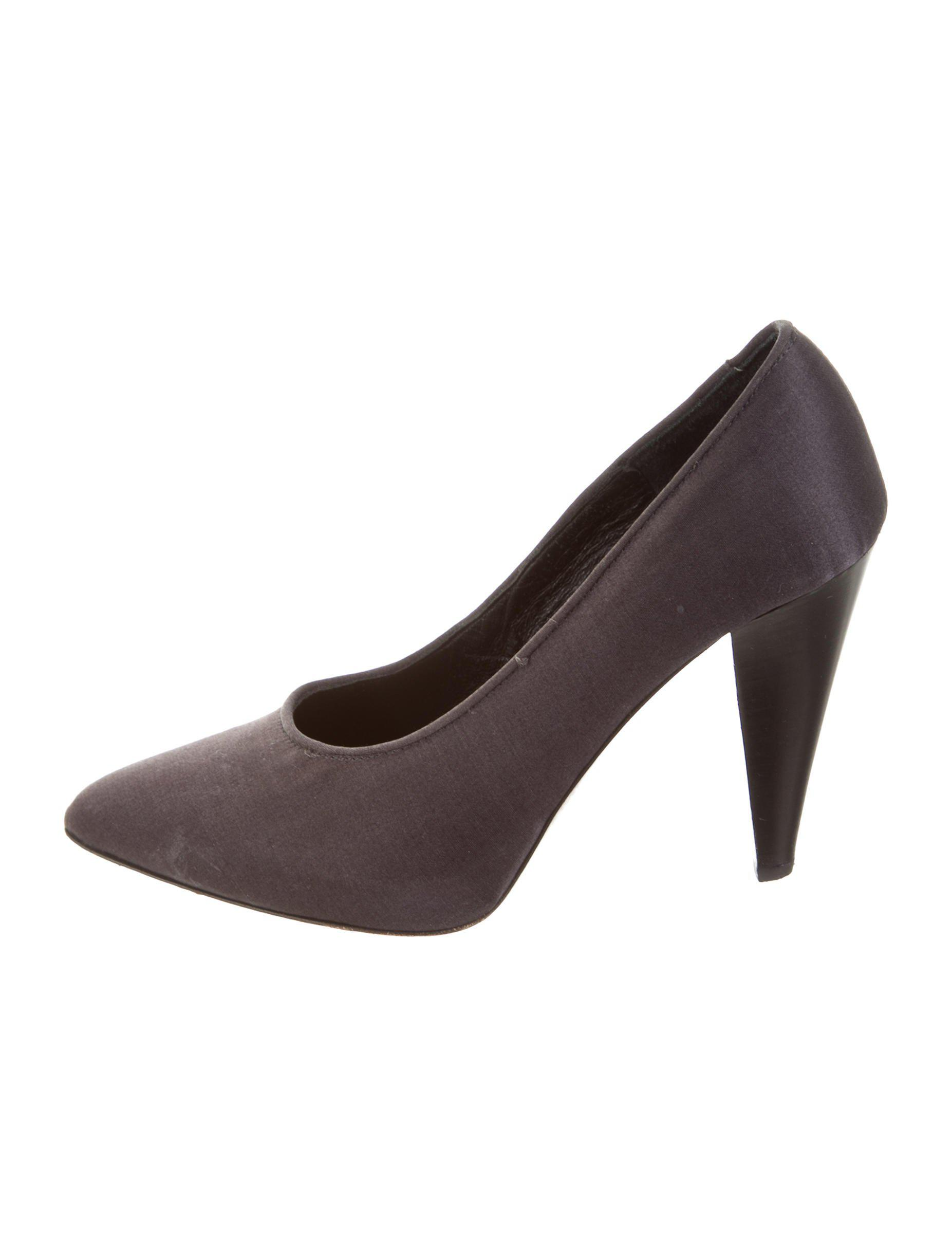 Proenza Schouler Satin Pointed-Toe Pumps wide range of free shipping 100% guaranteed online sale online ydOqT81R