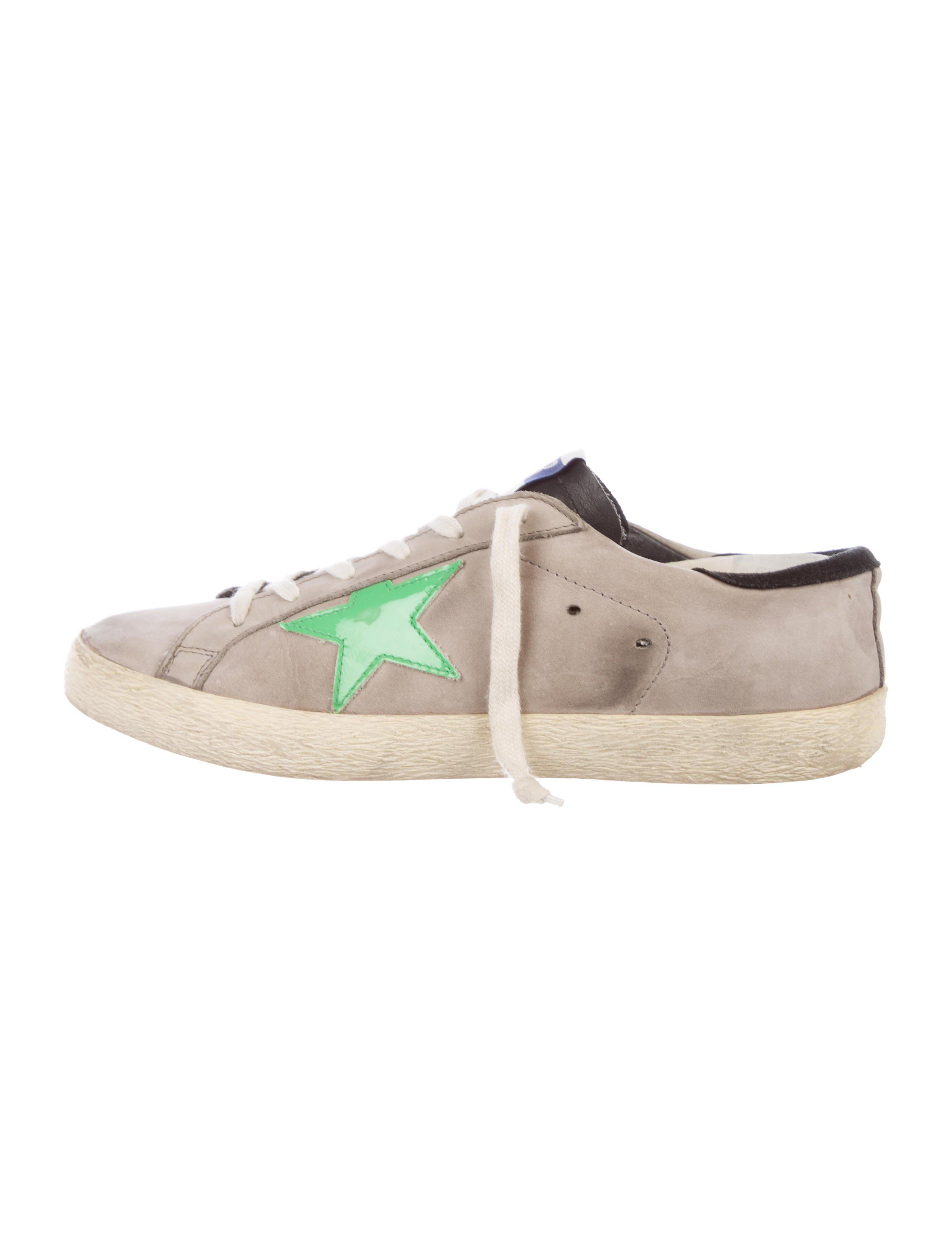 0a2df3963ce7 Golden Goose Deluxe Brand. Women s Metallic Suede Super Star Sneakers Grey