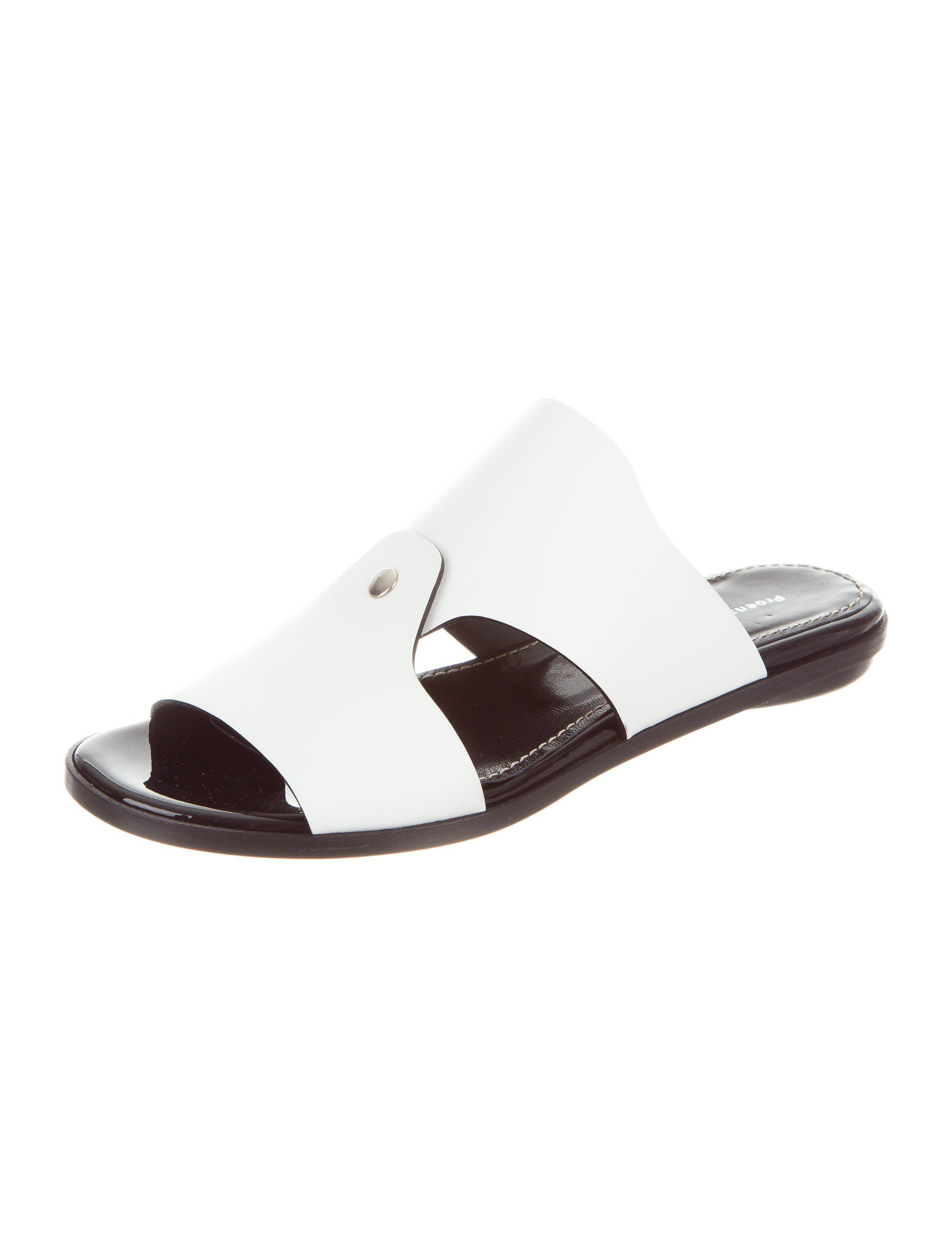 Proenza Schouler Leather Slide Sandals w/ Tags 2014 newest order cheap price outlet low price latest cheap price cheap online store Manchester p7QkmTh