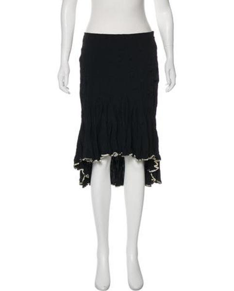 8136857b0c33d Lyst - Just Cavalli High-low Knee-length Skirt in Black