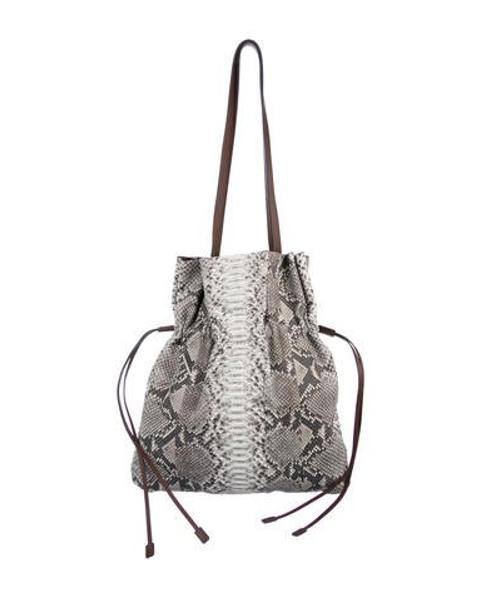 ea6f8adce5f0 Lyst - Michael Kors 2016 Python Leather Bag W  Tags Grey in Metallic