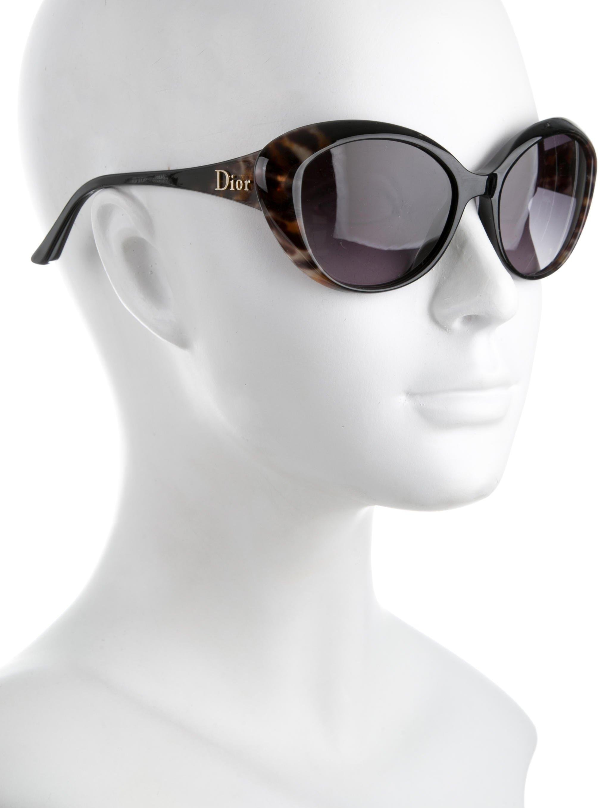757551e03ca93 Lyst - Dior Panther 2 Cat-eye Sunglasses Black in Metallic