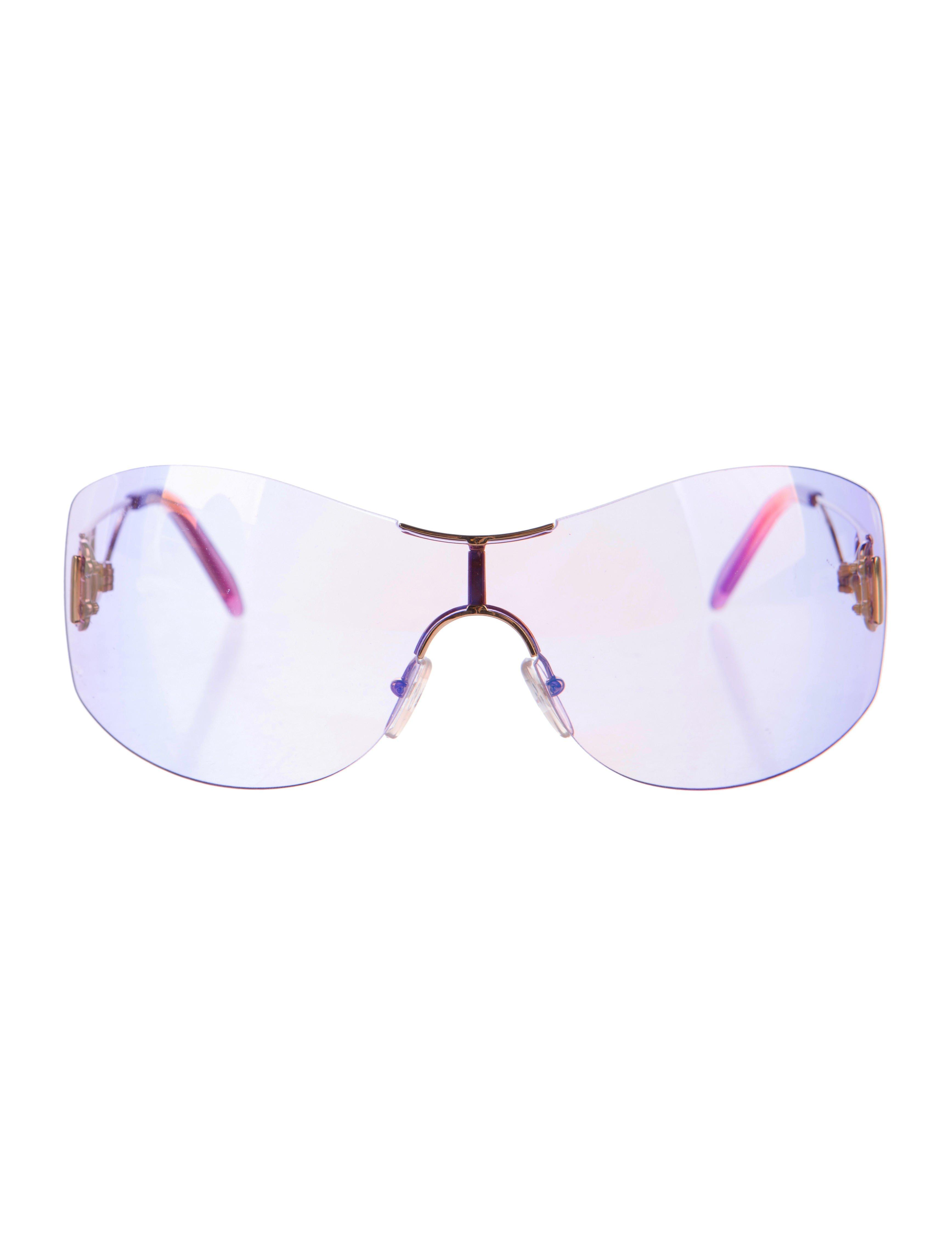 8aac12f6986 Lyst - Dior Diorella Shield Sunglasses Gold in Metallic