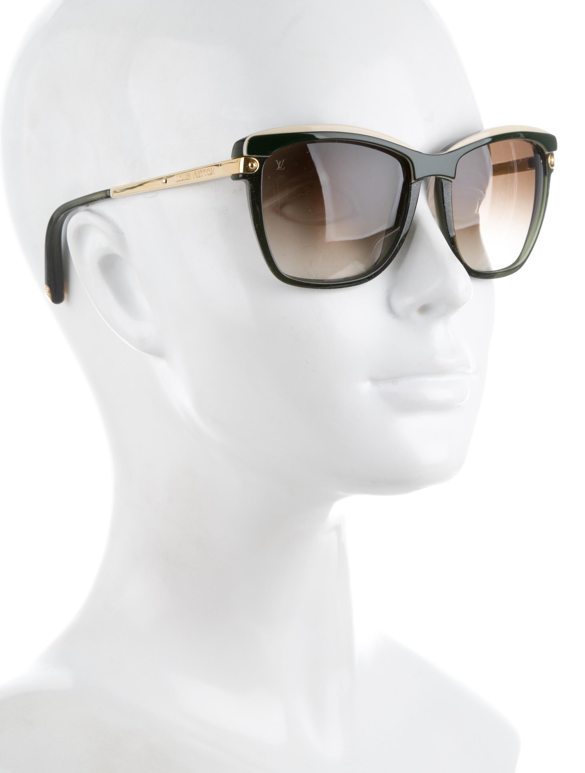 49f4407c668c Lyst - Louis Vuitton Ambrosia Logo Sunglasses Olive in Green