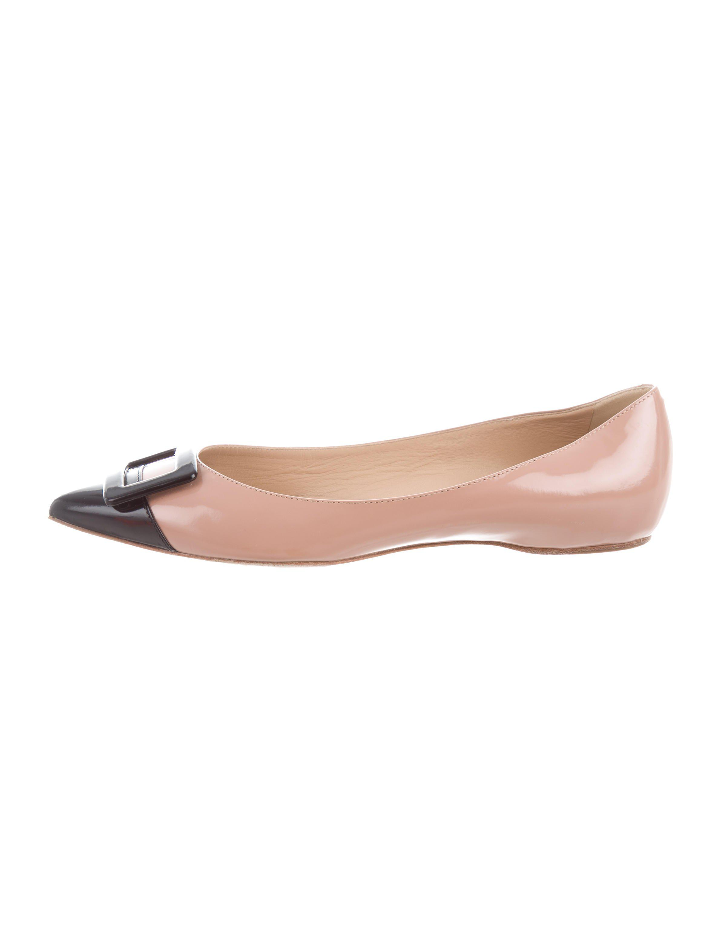 Roger Vivier Slingback Buckle-Accented Flats sast for sale 59RP88
