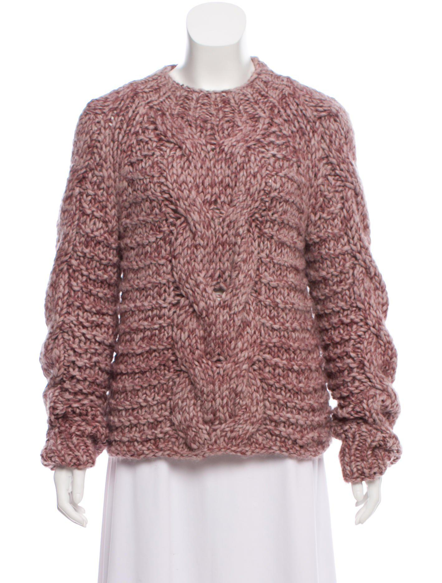 a7e1514b64ec Lyst - Ulla Johnson Alpaca Cable Knit Sweater in Pink