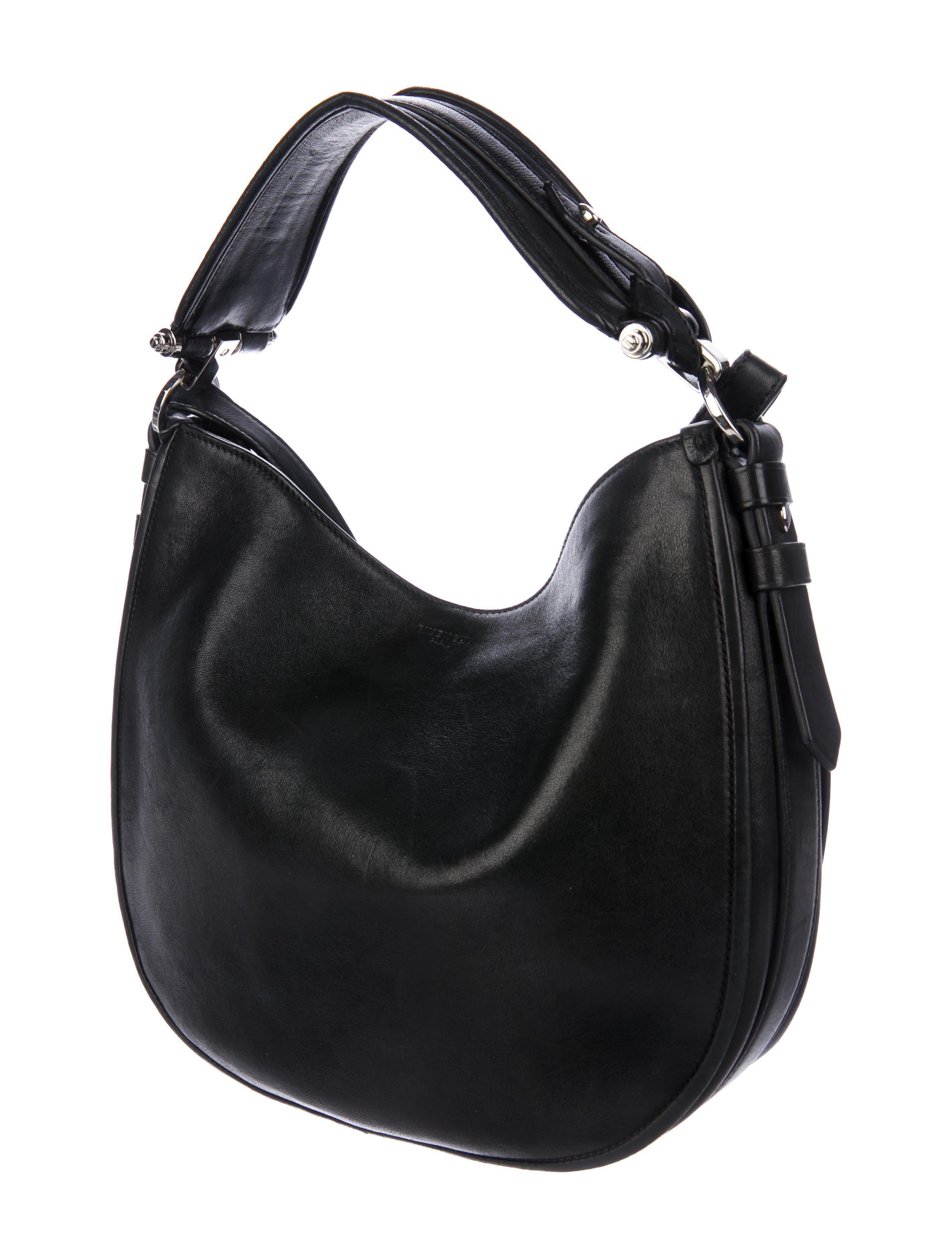 Lyst - Givenchy Leather Obsedia Hobo Black in Metallic 8f20e6cc9a