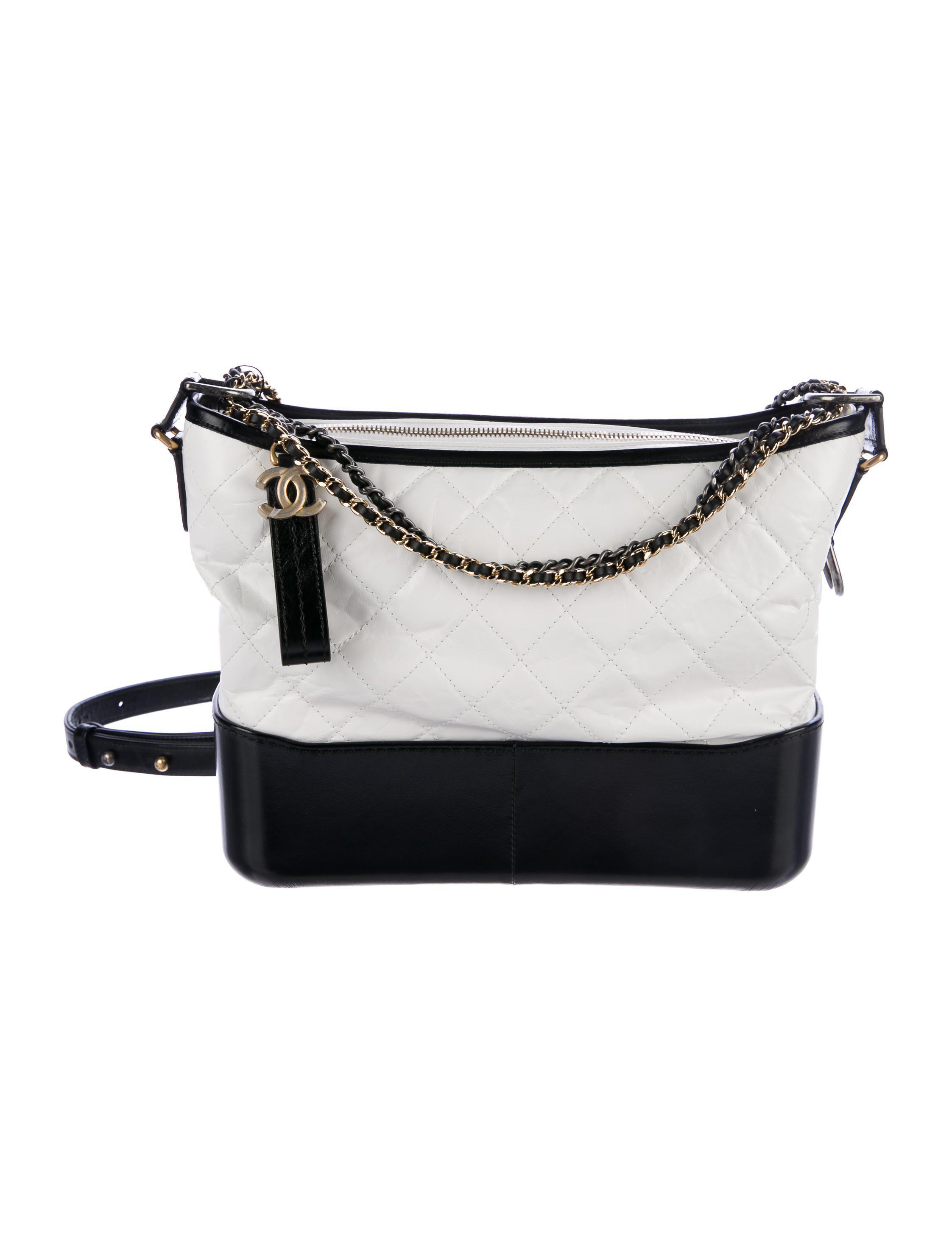 Lyst - Chanel 2017 Medium Gabrielle Hobo W  Tags in White 545e024d84916