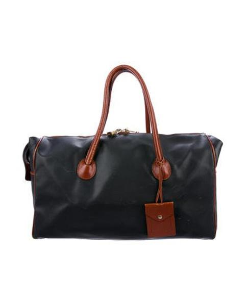 aabe9547d7 Lyst - Bottega Veneta Marco Polo Canvas Weekender Black in Metallic ...