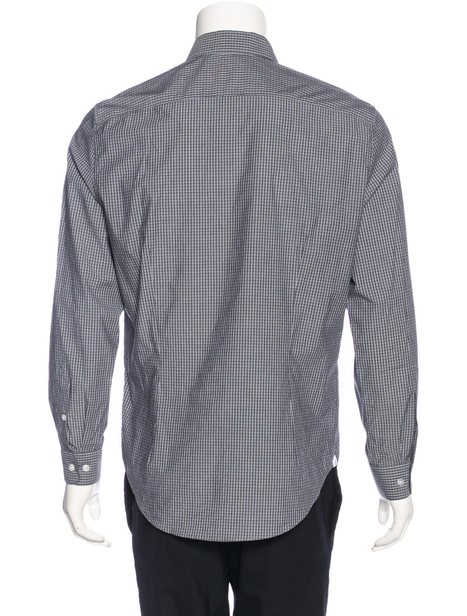 c194b2f75bc9 Lyst - Louis Vuitton Grid Check Shirt in Gray for Men