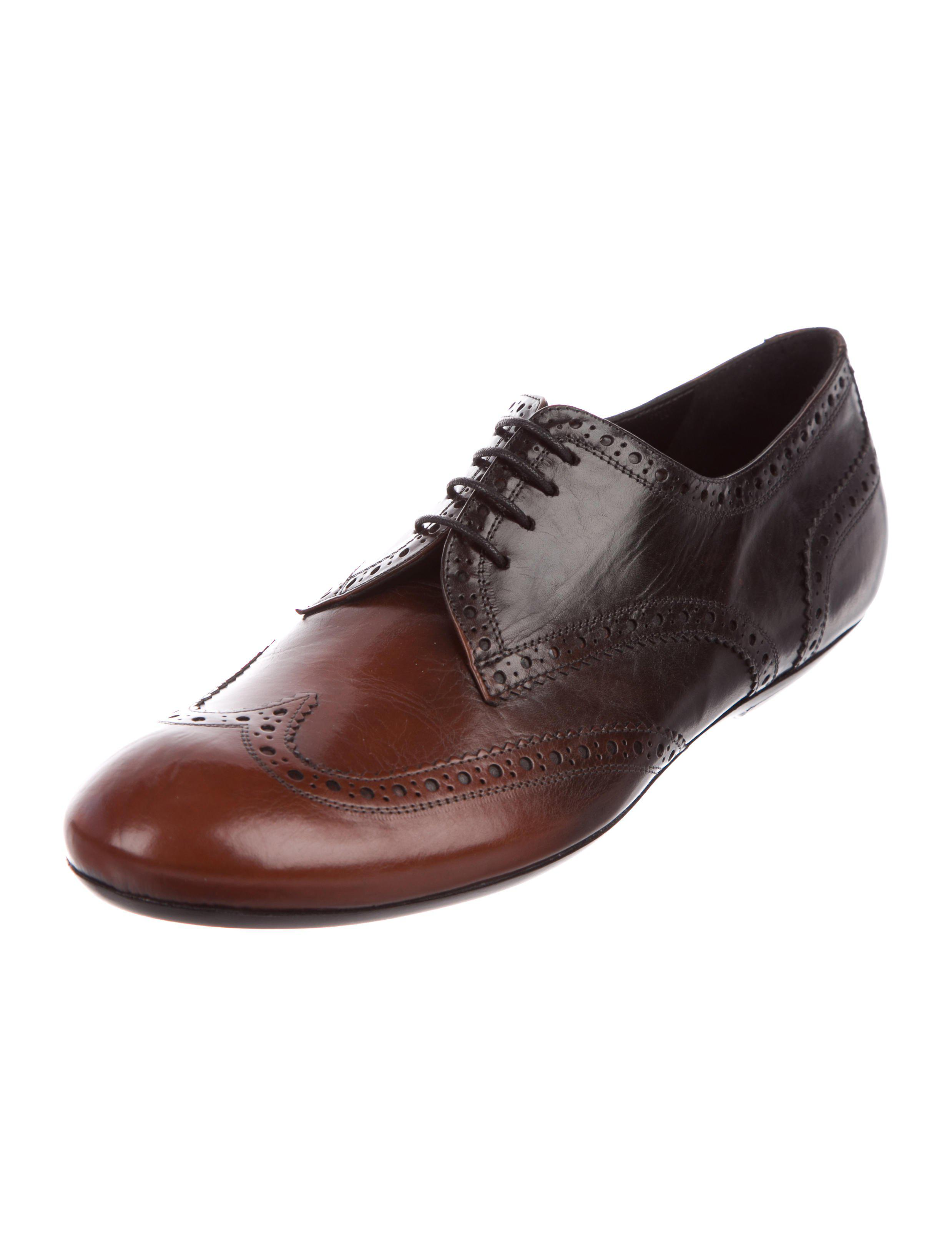205bf24ad964 Lyst - Dries Van Noten Leather Brogue Oxfords in Brown for Men