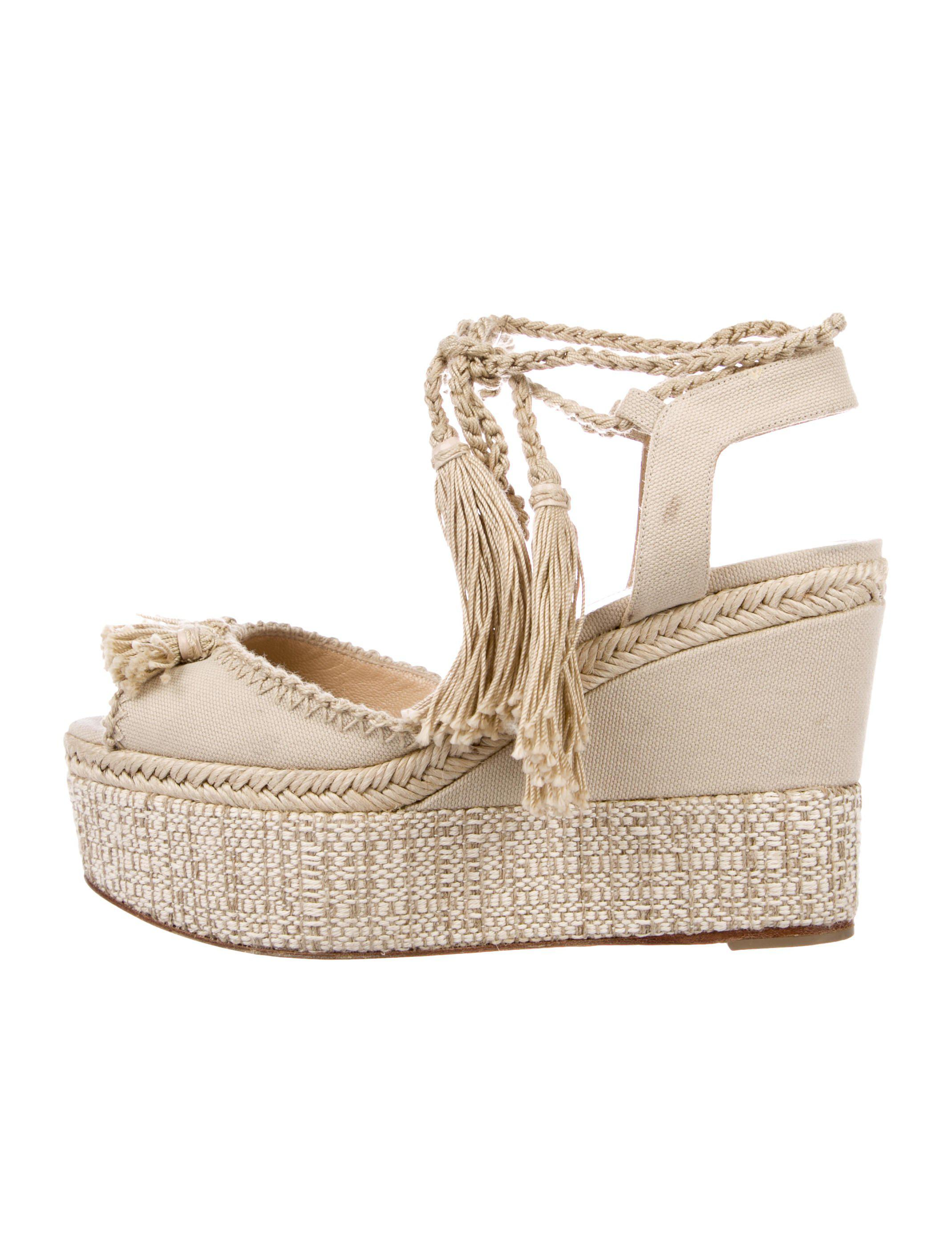 a69e15869668 Lyst - Paul Andrew Braided Wedge Sandals Tan in Natural