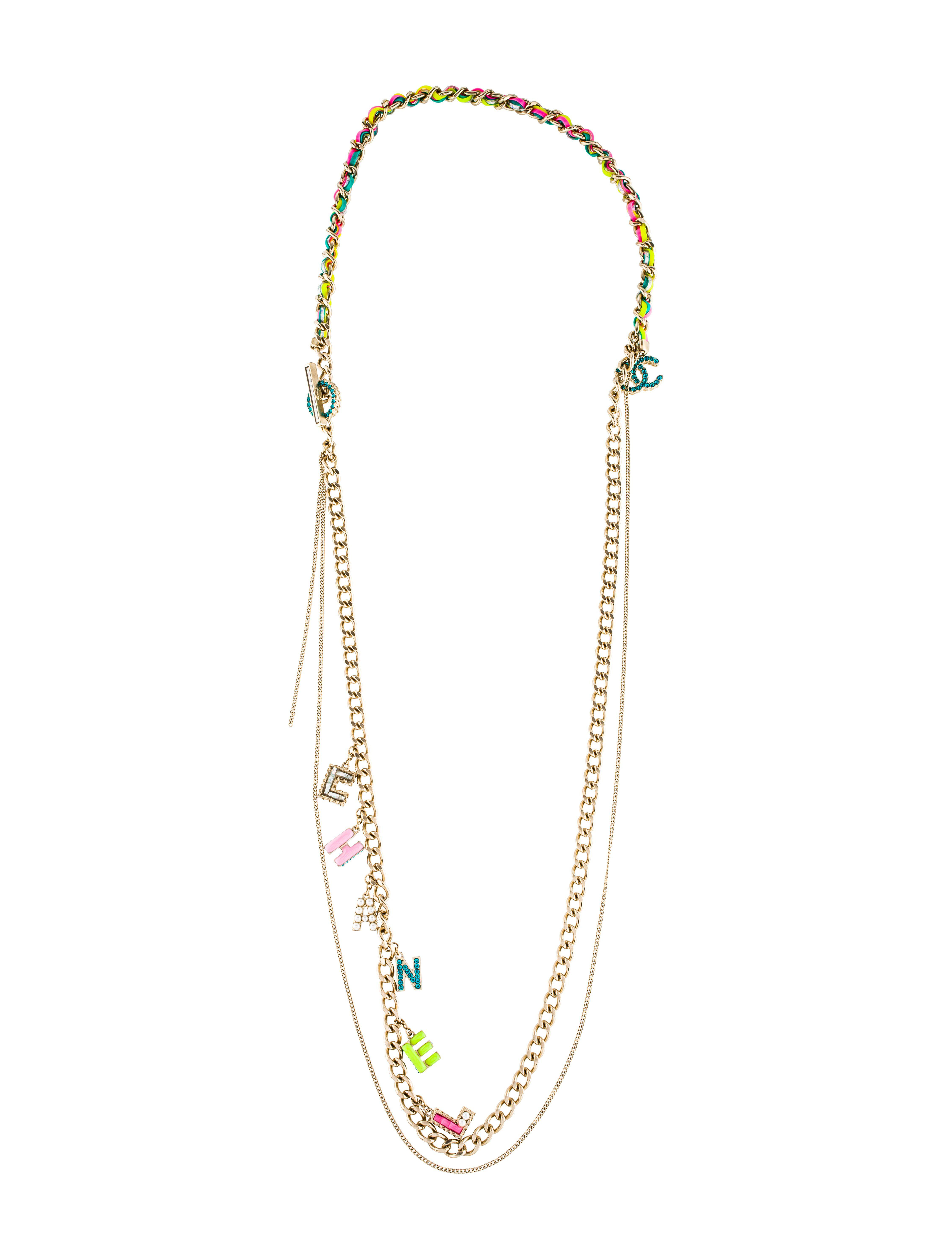 enamel short opal necklace the leaf flower and
