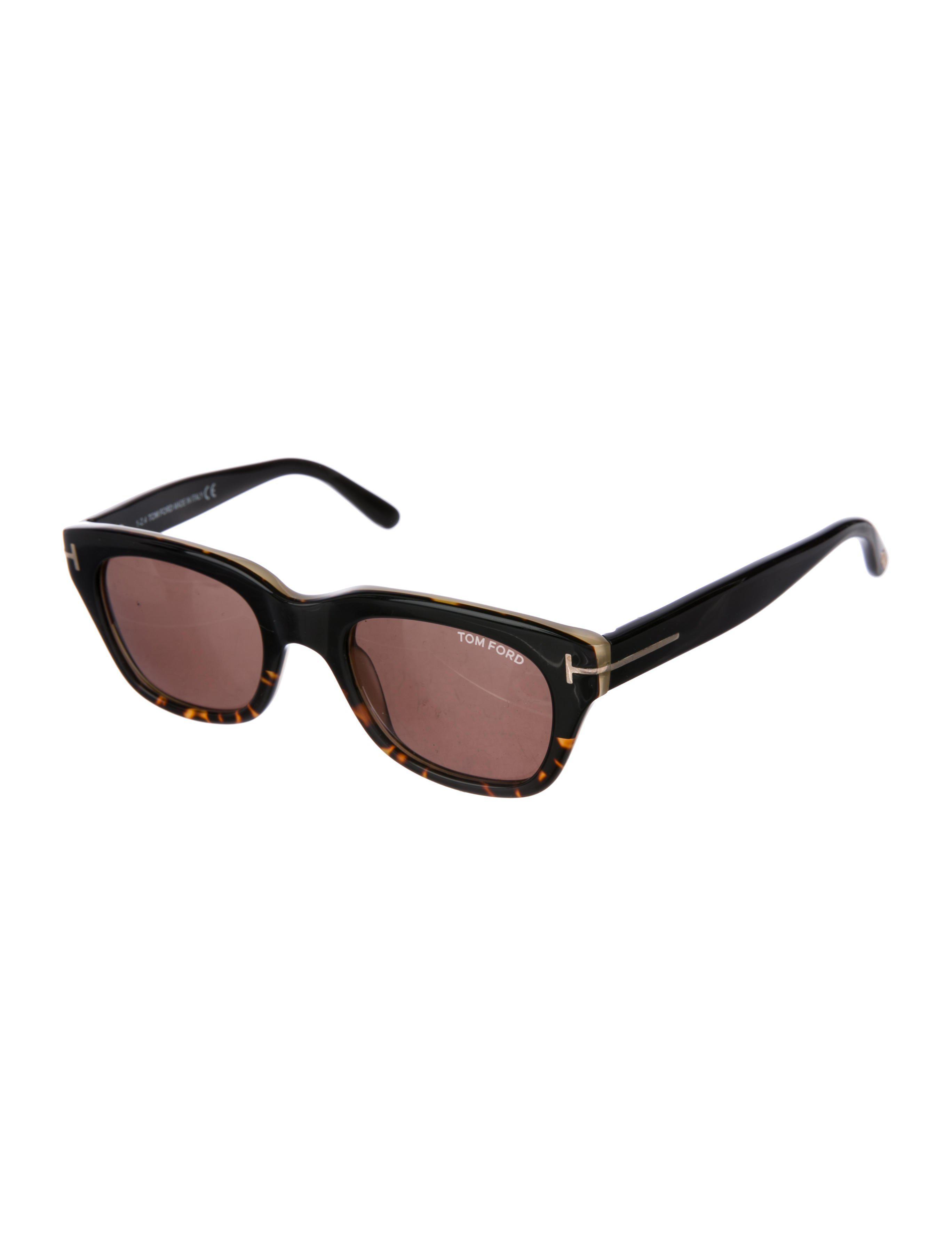 f647386843 Lyst - Tom Ford Snowdon Tortoiseshell Sunglasses Black in Metallic