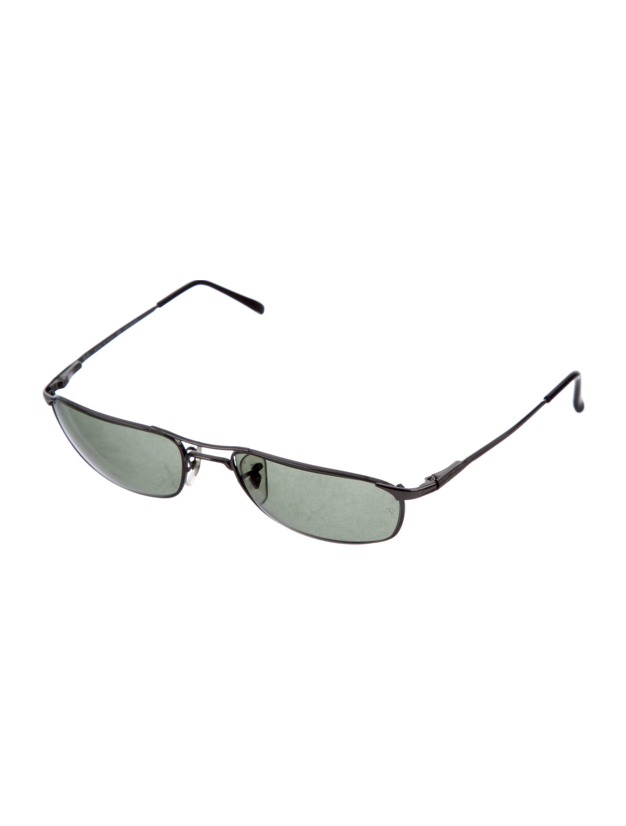 e614bcd08a promo code for lyst ray ban polarized rectangular sunglasses silver in  natural 7873a 70d29
