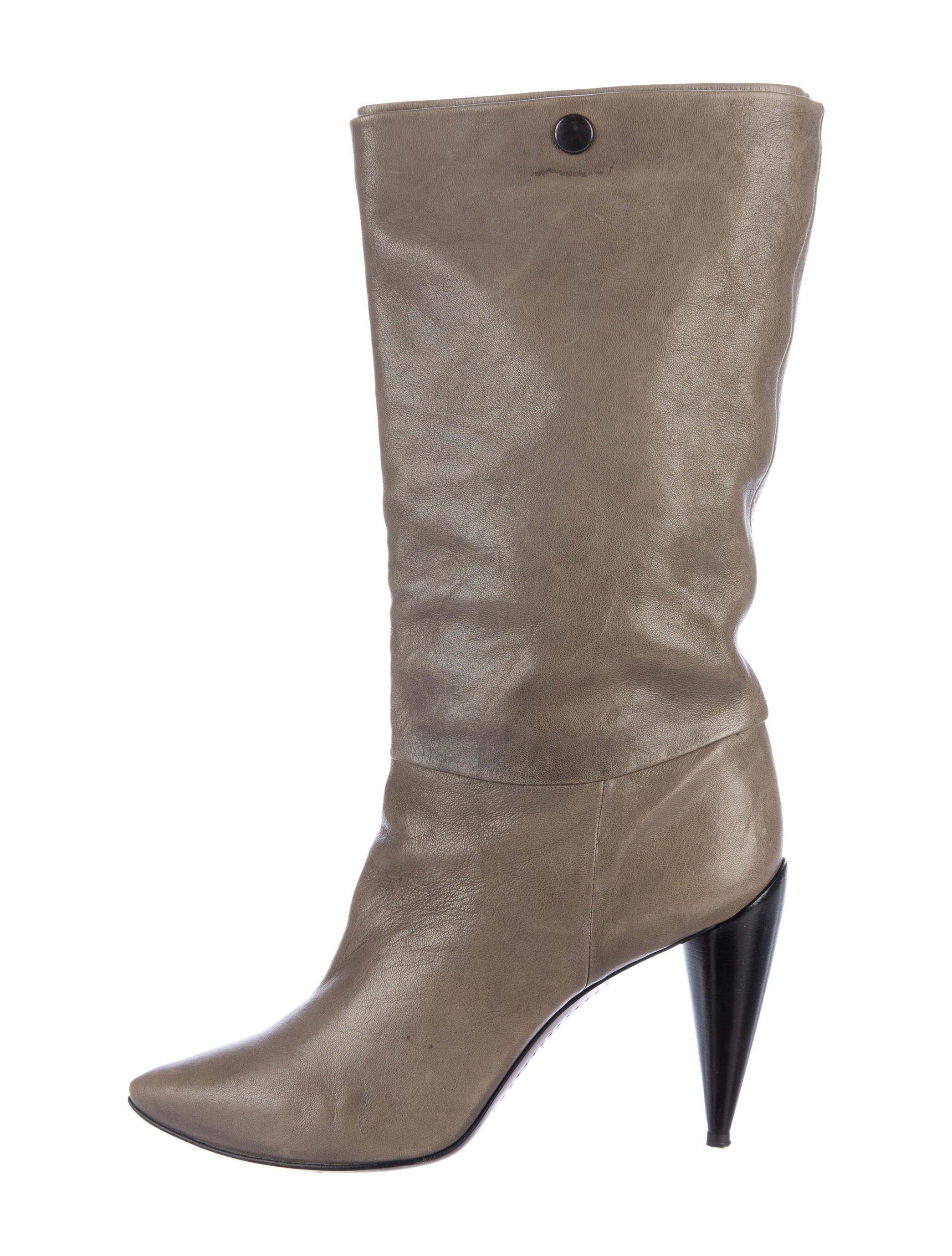 Costume National Suede Mid-Calf Boots shop for sale outlet low shipping cheap sale clearance foWBWkXjt9