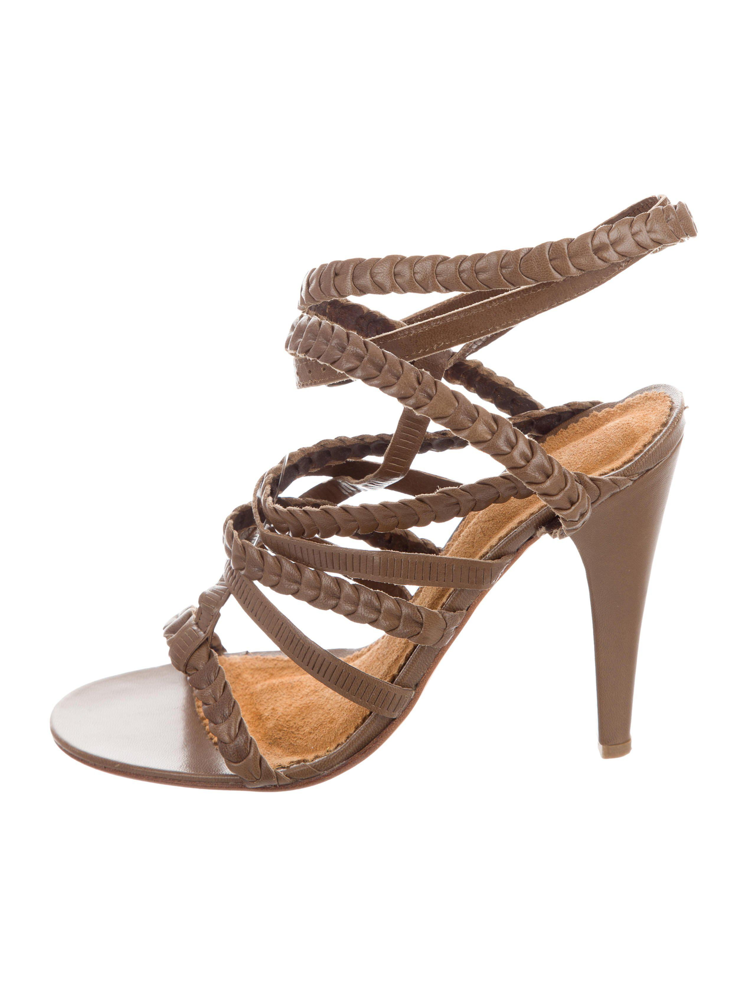 Isabel Marant Woven Leather Sandals 100% authentic for sale discount choice MqbxIU8