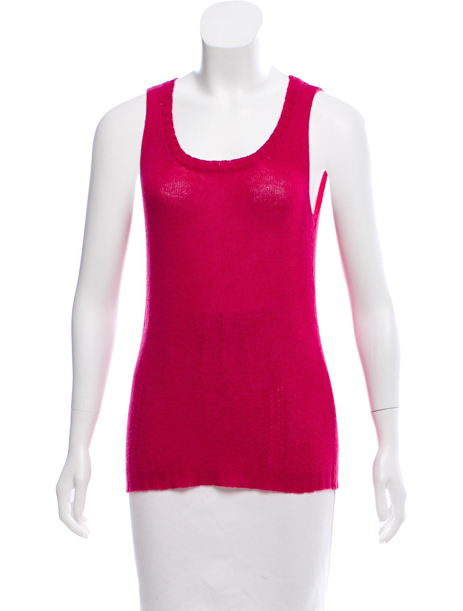 84370a7fba506 Lyst - Nina Ricci Cashmere Sleeveless Top in Pink