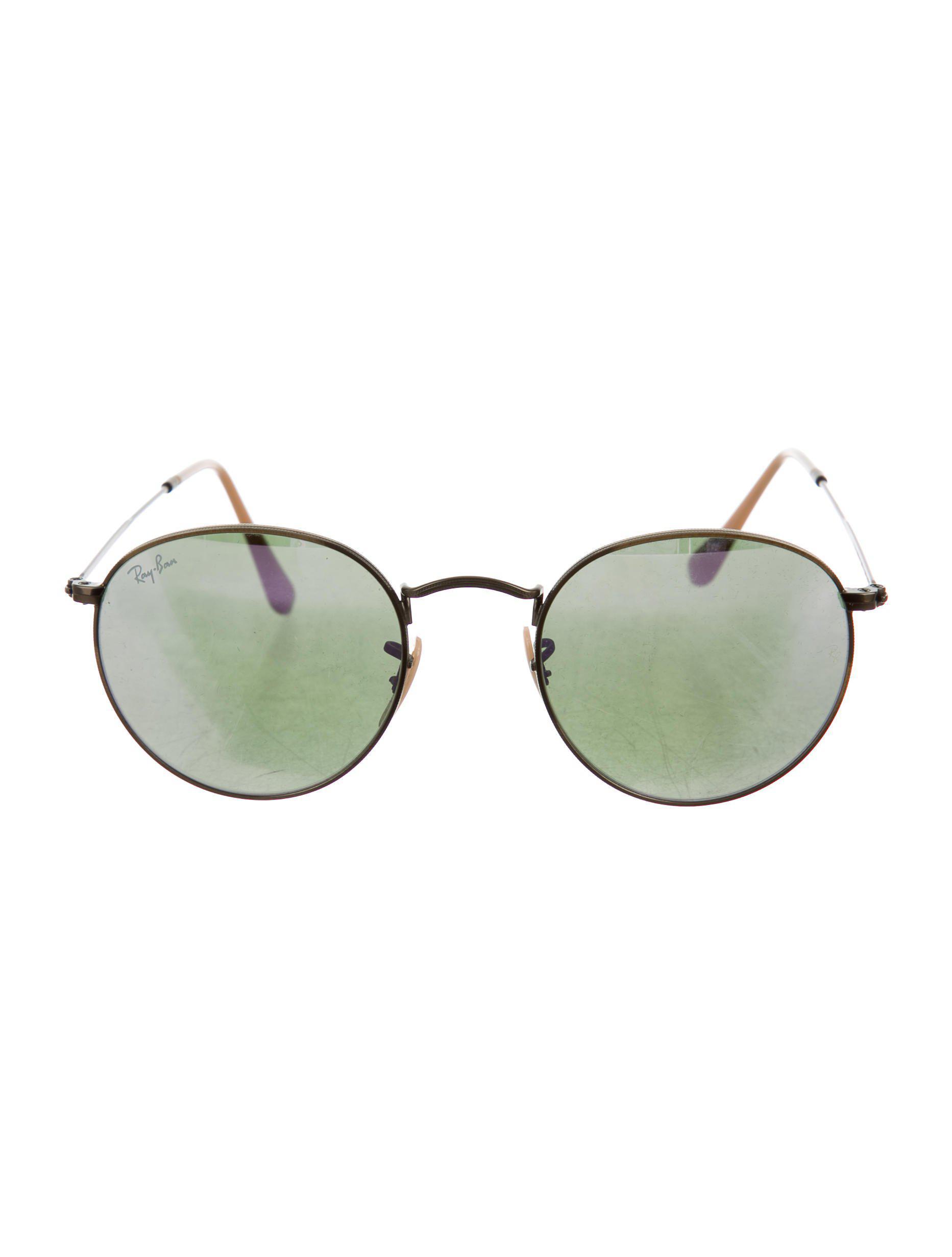 4d50eb94803d4 Lyst - Ray-Ban Round Mirrored Sunglasses Bronze in Metallic
